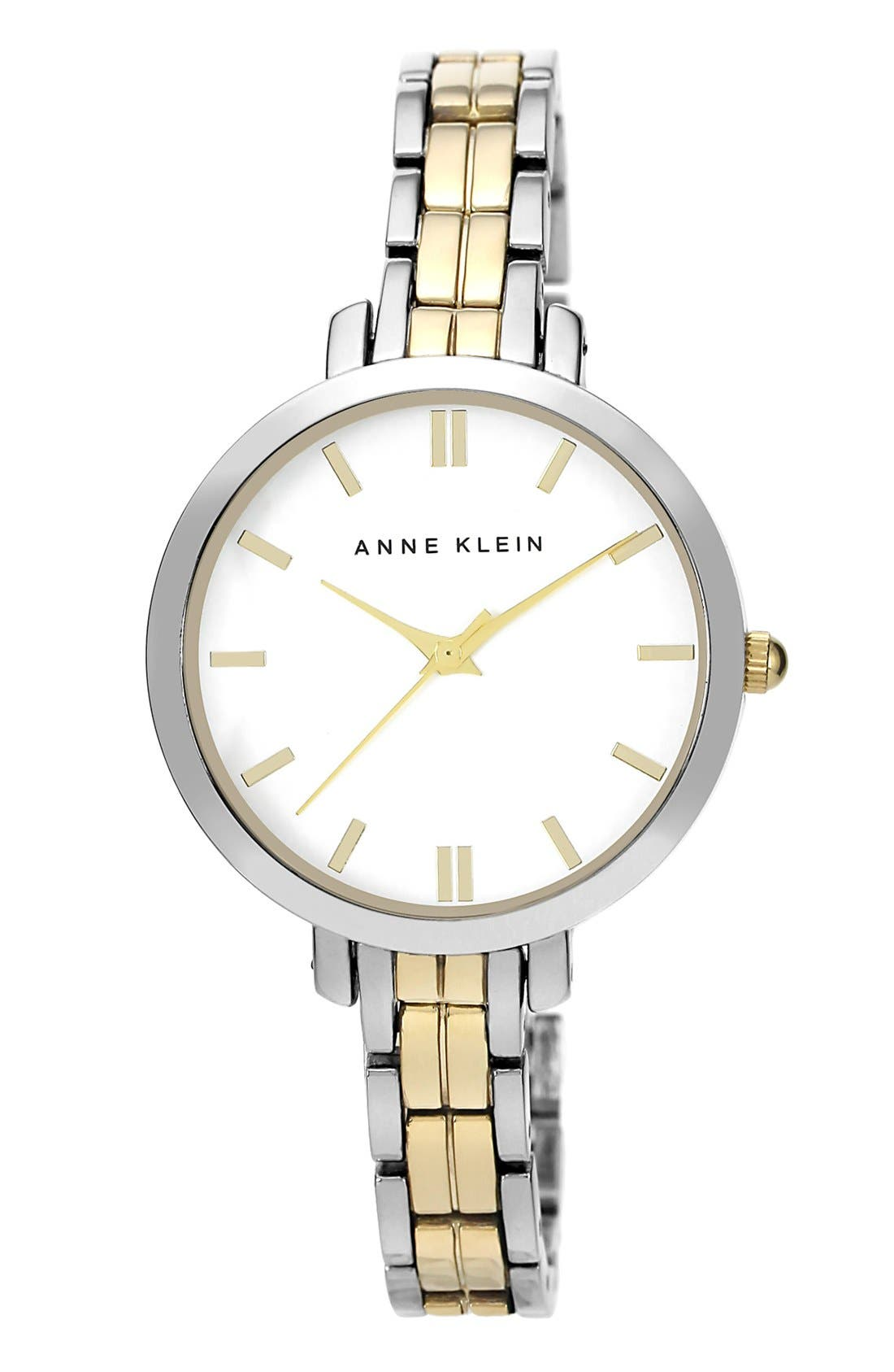 Main Image - Anne Klein Round Bracelet Watch, 33mm