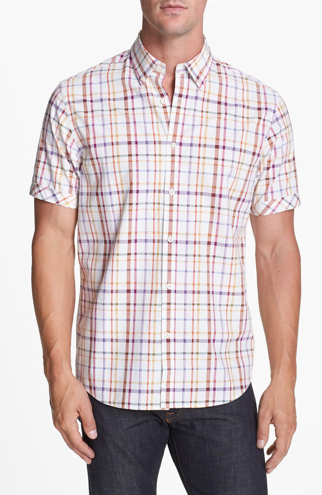 Alternate Image 1 Selected - James Campbell Short Sleeve Sport Shirt