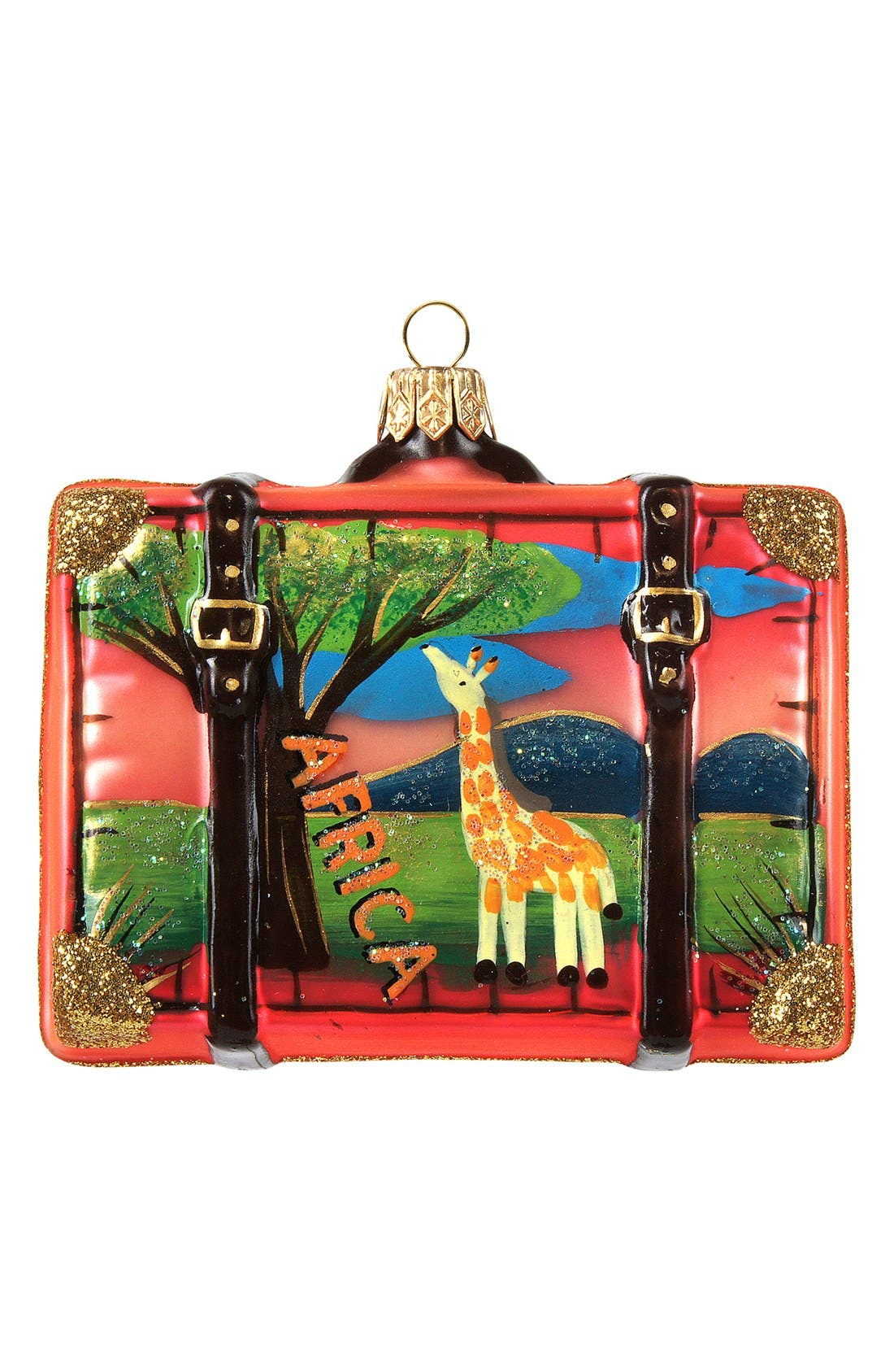 Alternate Image 1 Selected - Nordstrom at Home 'Africa' Suitcase Ornament