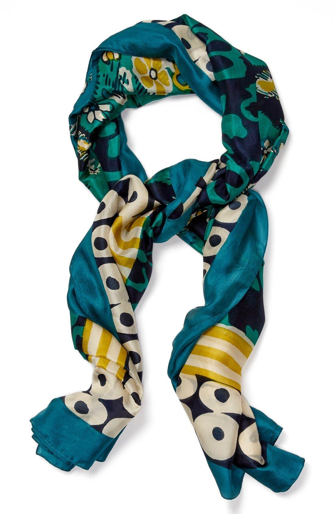 Alternate Image 1 Selected - Lucky Brand Print Silk Scarf