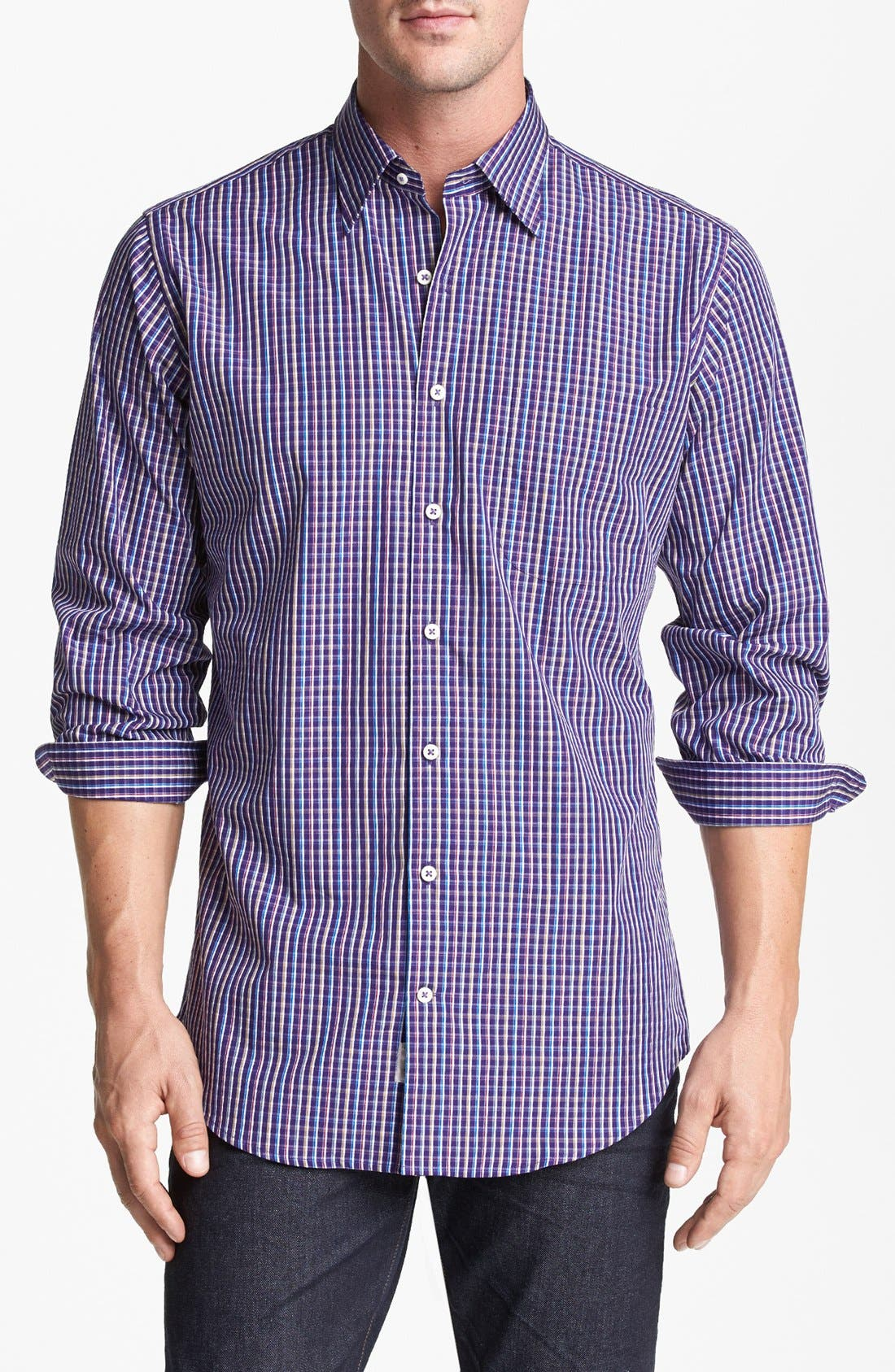 Alternate Image 1 Selected - Peter Millar Regular Fit Sport Shirt (Tall)