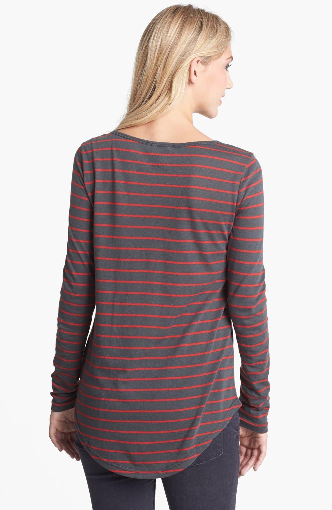 Alternate Image 2  - BP. Stripe Long Sleeve Tee (Juniors)