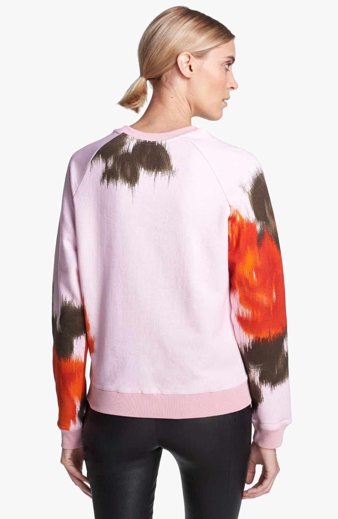 Alternate Image 2  - MSGM Large Rose Print Sweatshirt