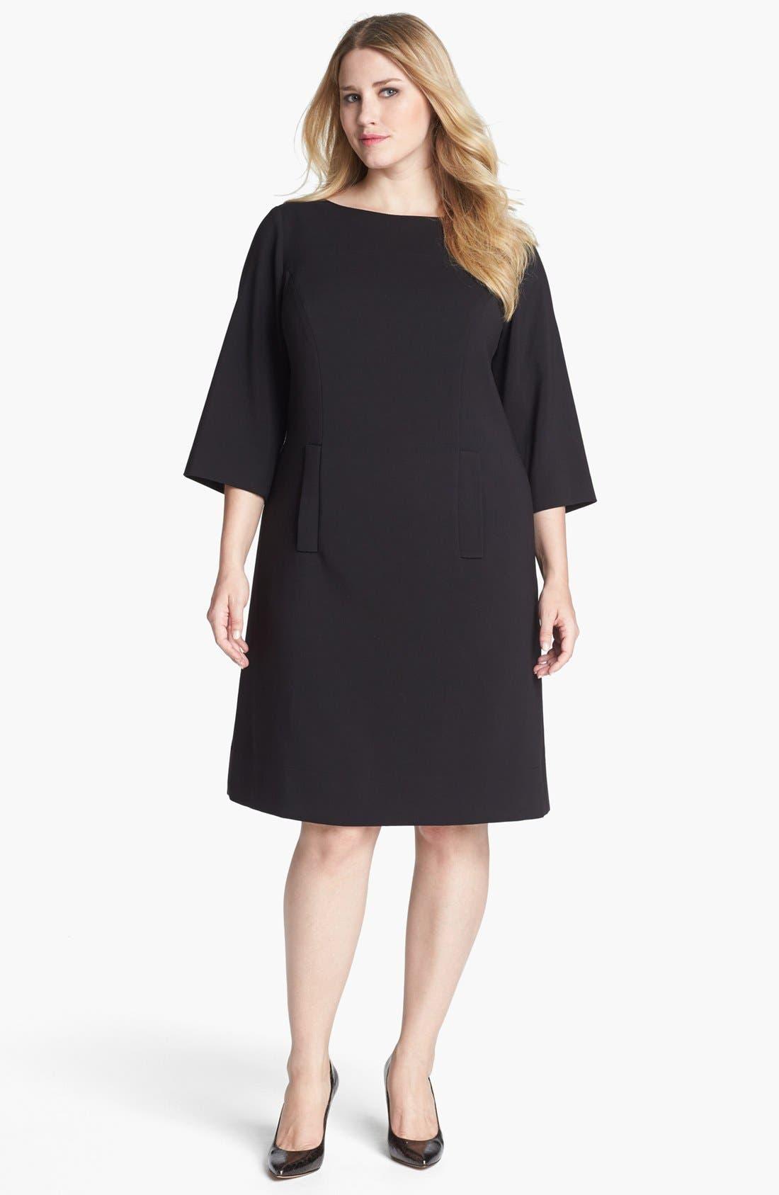 Alternate Image 1 Selected - Eliza J Ponte Knit Shift Dress