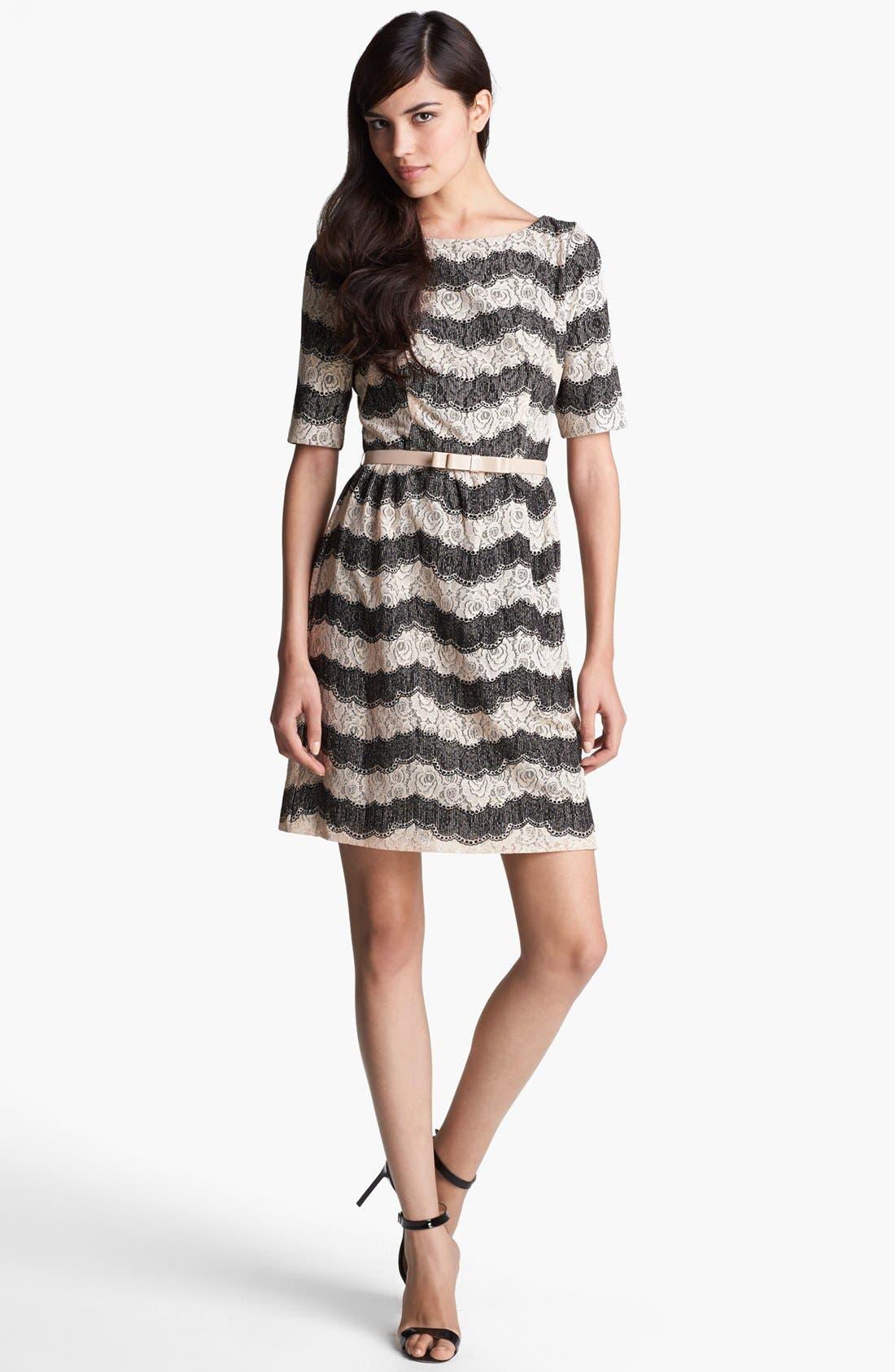 Main Image - Ivy & Blu Lace Fit & Flare Dress