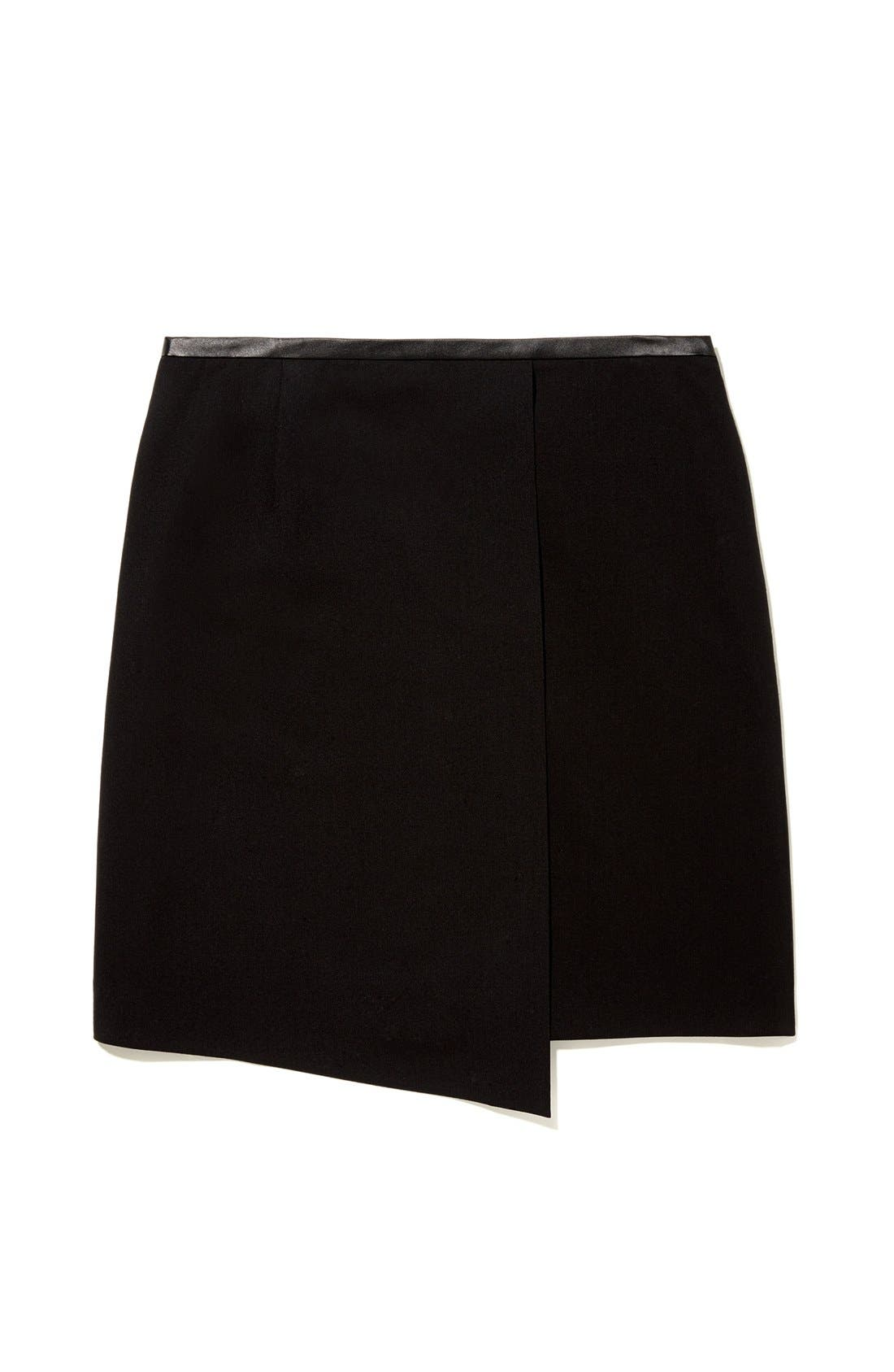 Alternate Image 6  - Vince Camuto Faux Leather Trim Envelope Skirt