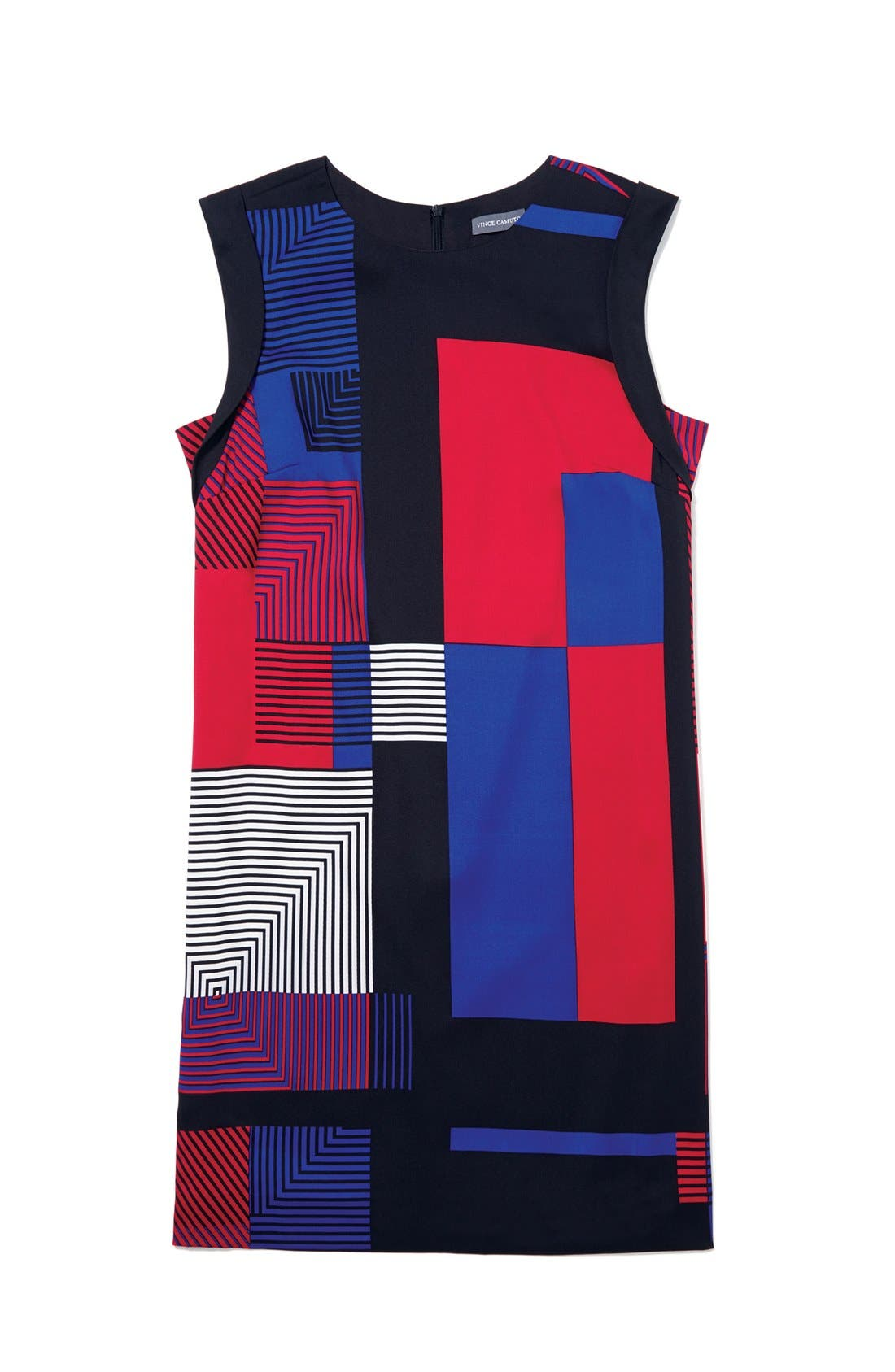Alternate Image 4  - Vince Camuto Patchwork Colorblock Shift Dress (Online Only)