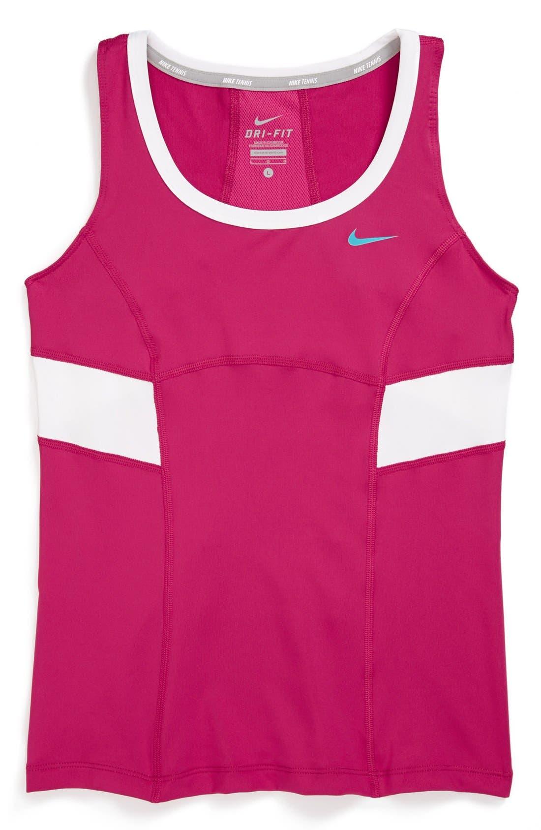 Main Image - Nike 'Power' Tennis Tank Top (Big Girls)