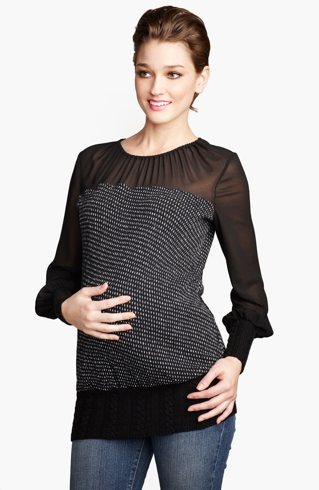 Alternate Image 1 Selected - Maternal America 'Vero' Maternity Sweater
