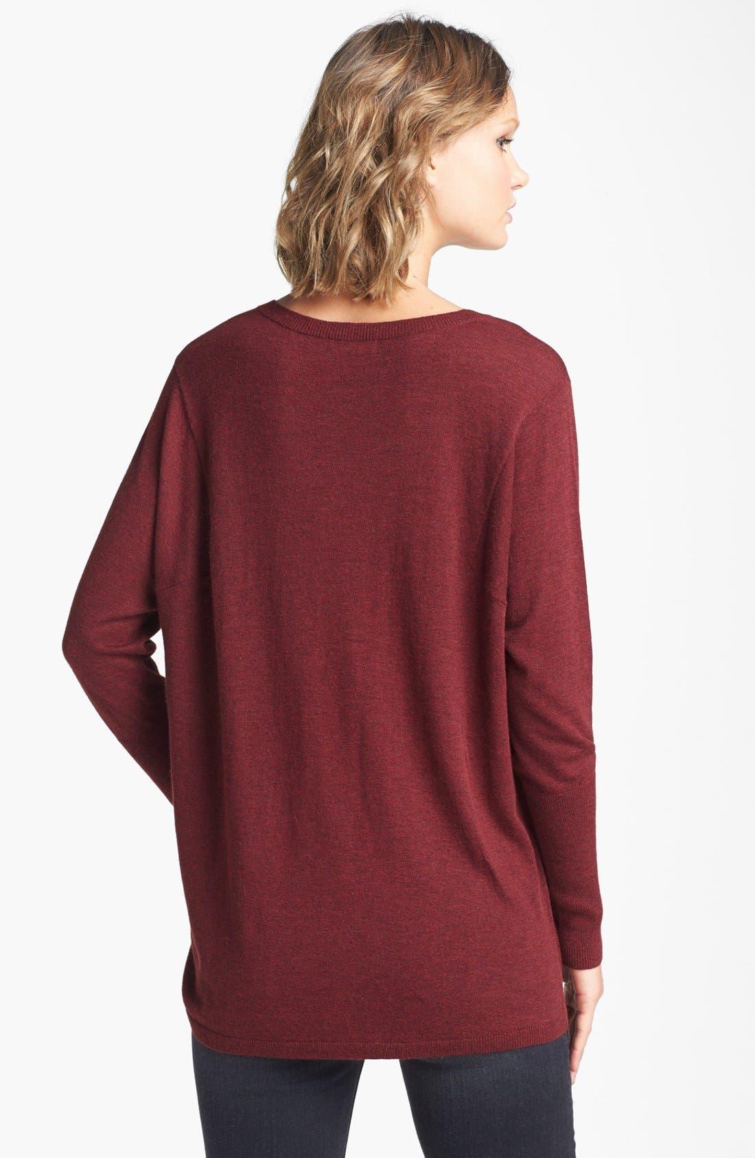 Alternate Image 2  - Trouvé V-Neck High/Low Sweater