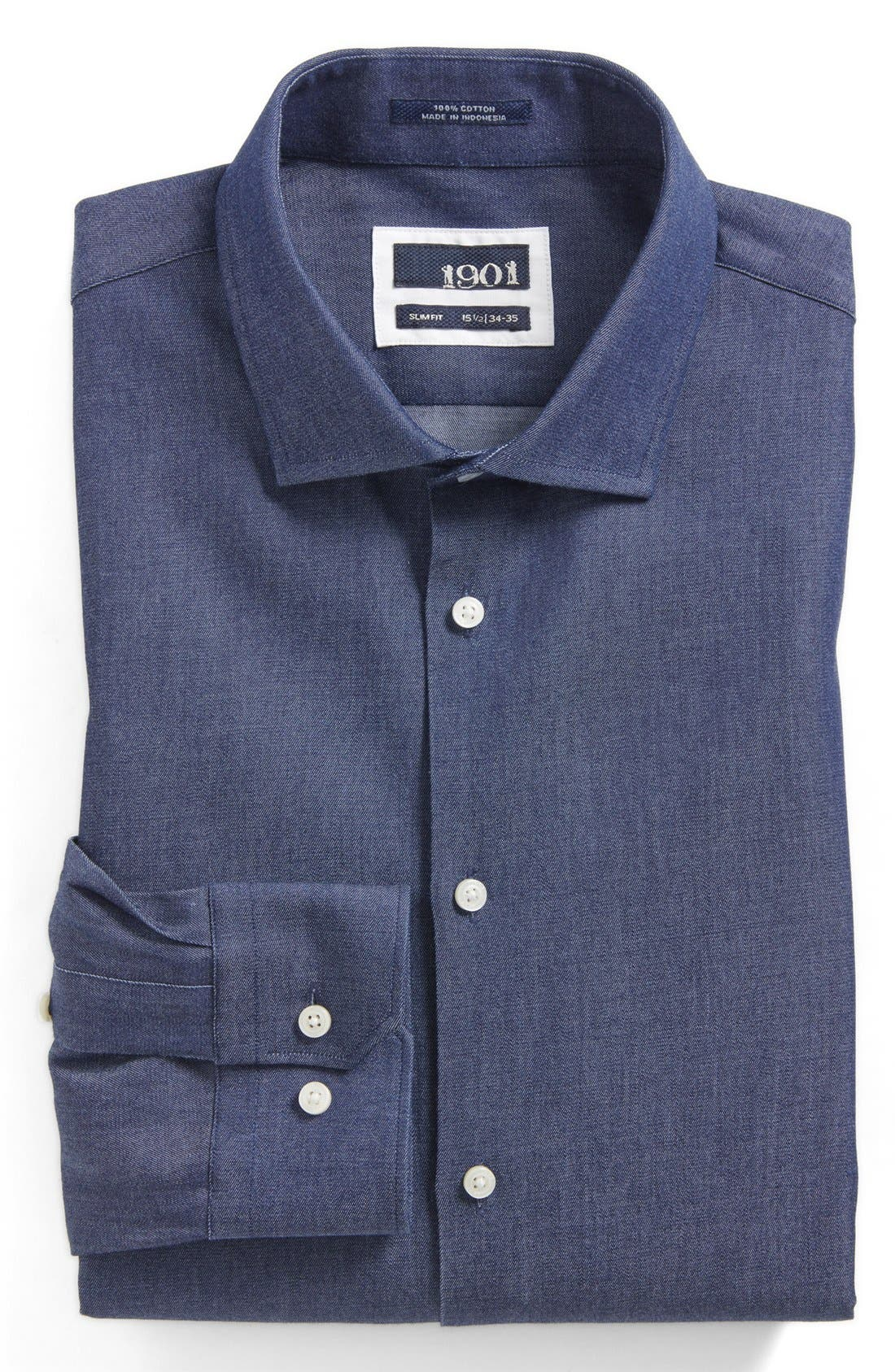 Main Image - 1901 Extra Trim Fit Dress Shirt