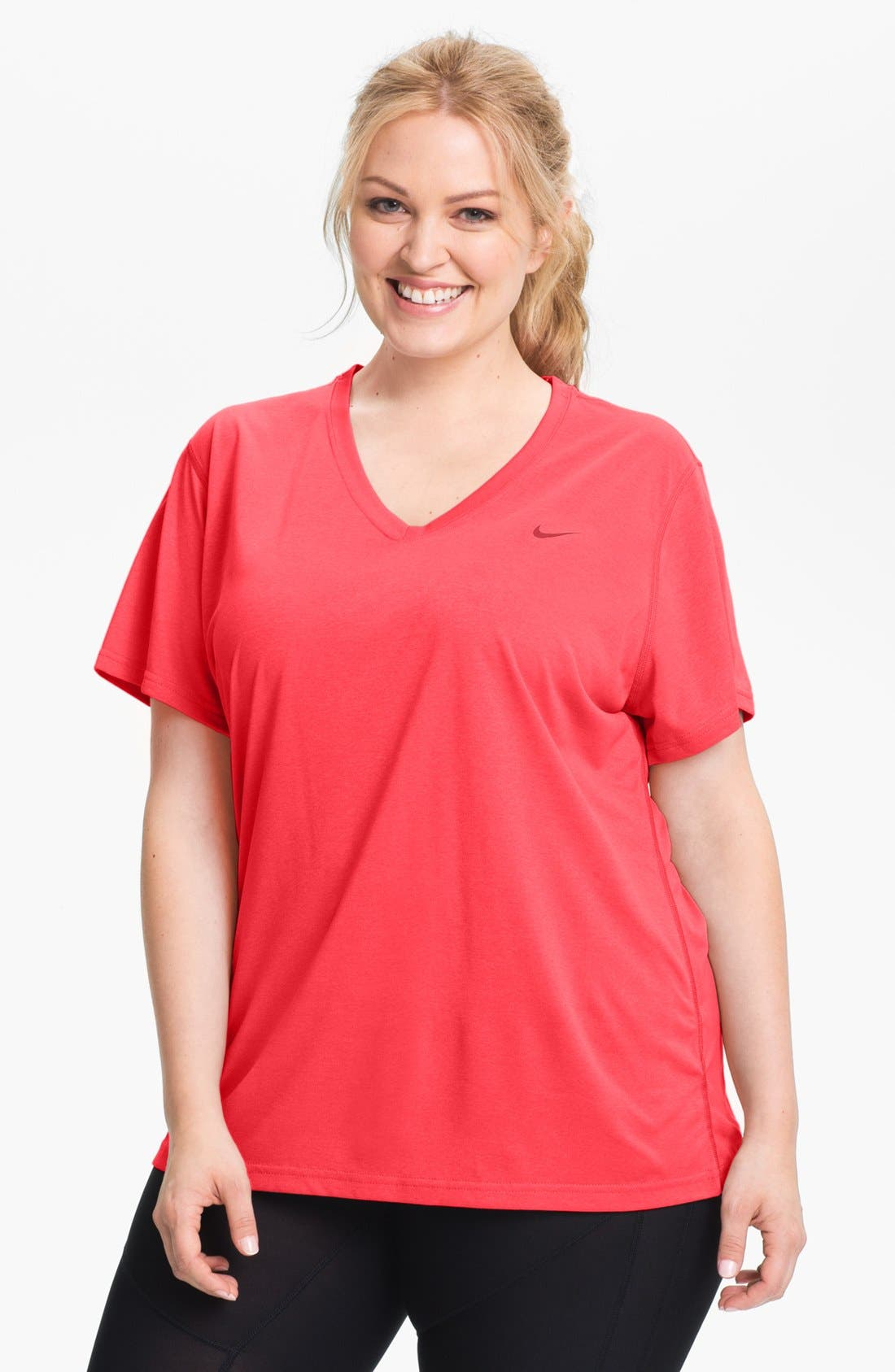 Main Image - Nike 'Legend' V-Neck Tee (Plus Size)
