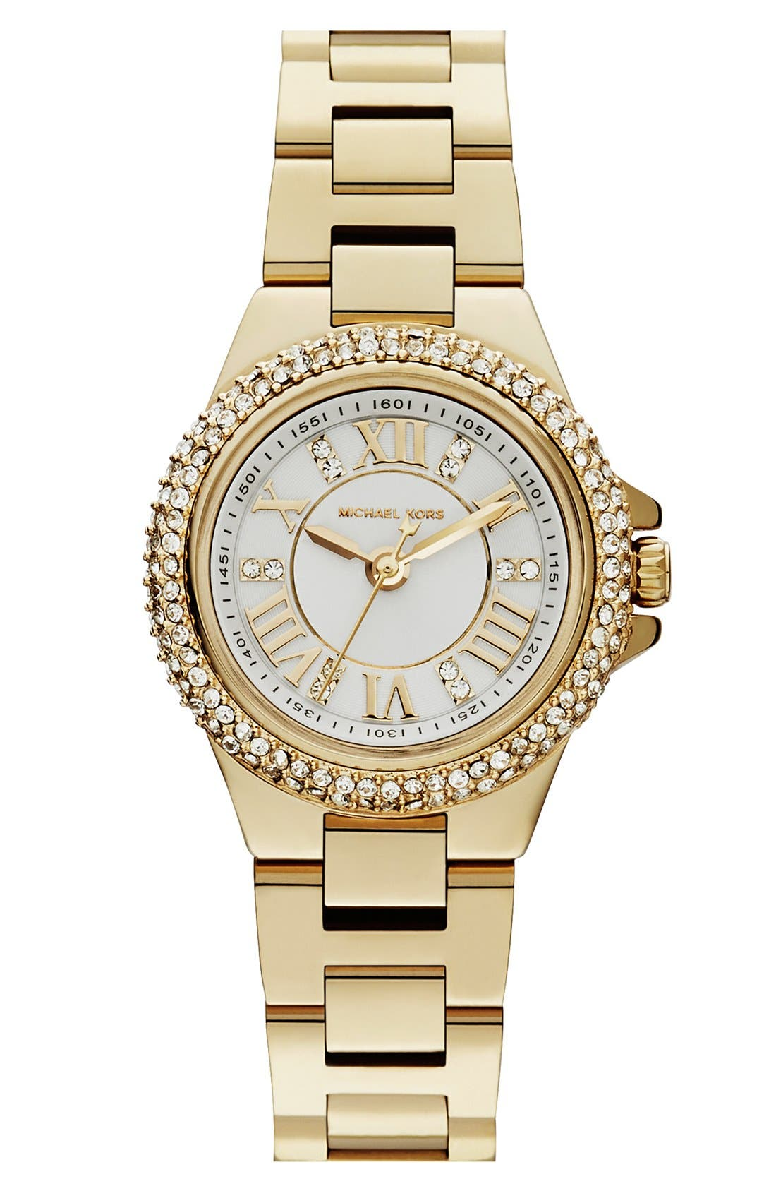 Alternate Image 1 Selected - Michael Kors 'Mini Camille' Pavé Bezel Bracelet Watch, 26mm