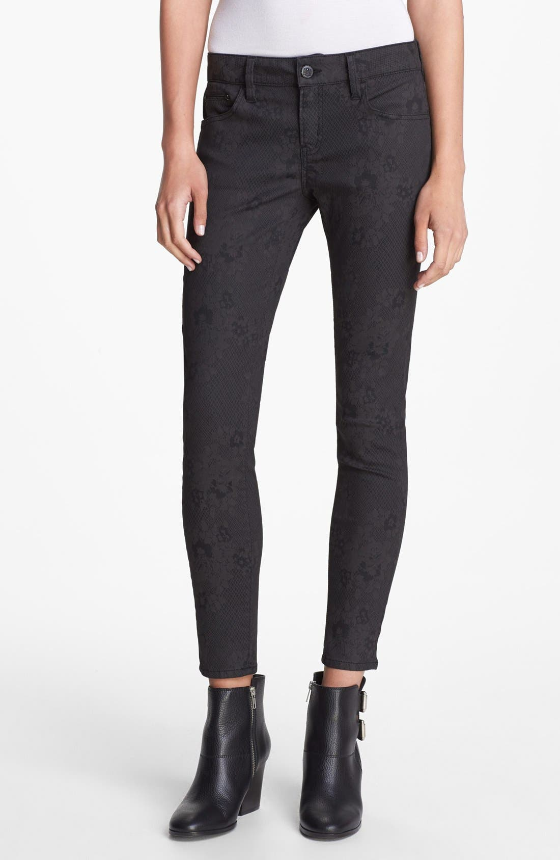 Alternate Image 1 Selected - The Kooples Skinny Print Stretch Jeans