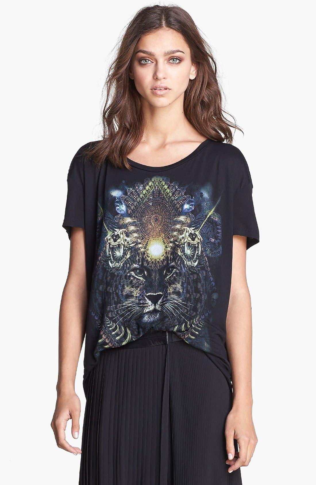 Alternate Image 1 Selected - The Kooples Neon Tiger Print Tee
