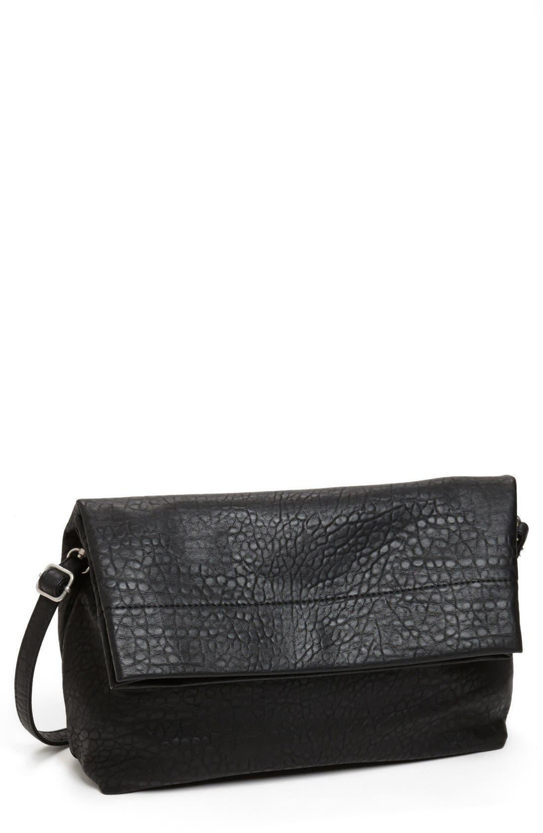 Main Image - Street Level Foldover Crossbody Bag (Juniors) (Online Only)