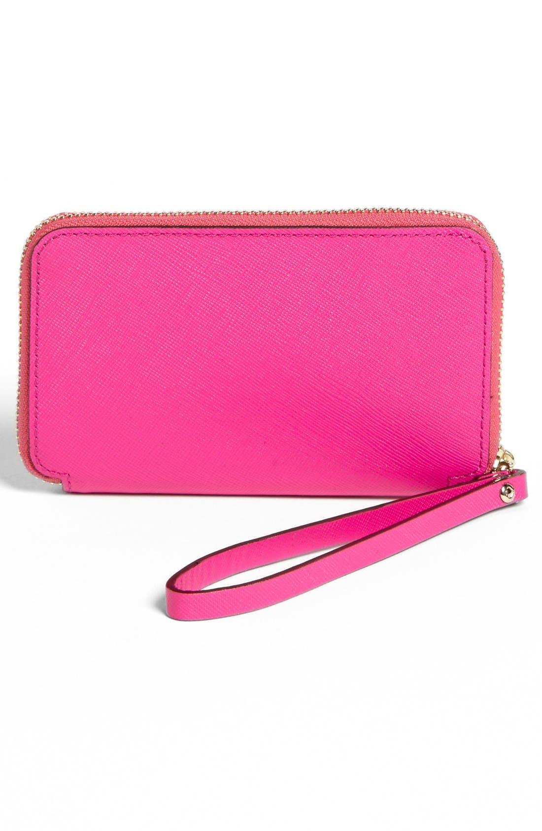 Alternate Image 4  - kate spade new york 'cherry lane - louie' saffiano leather phone wallet