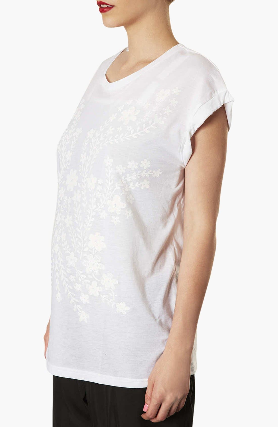 Alternate Image 2  - Topshop Floral Placement Maternity Tee