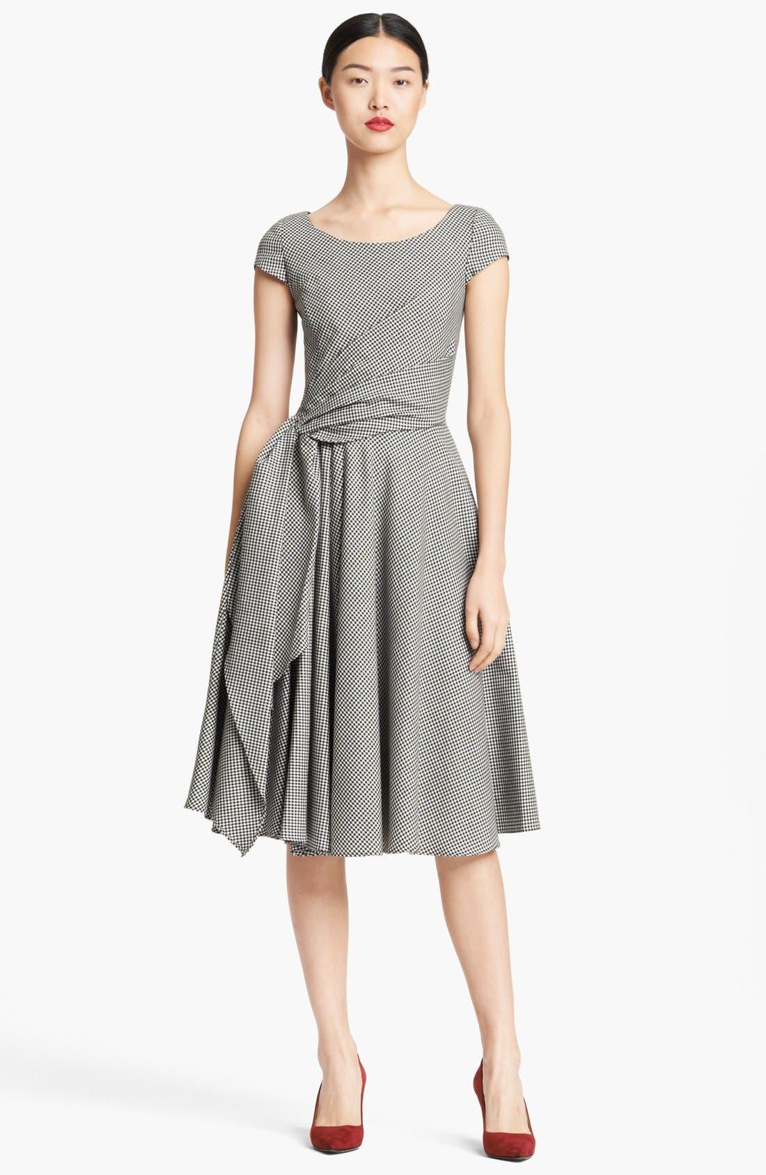 Alternate Image 1 Selected - Oscar de la Renta Full Skirt Gingham Dress