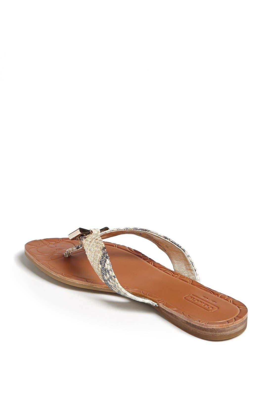 Alternate Image 2  - COACH 'Sable' Flip Flop
