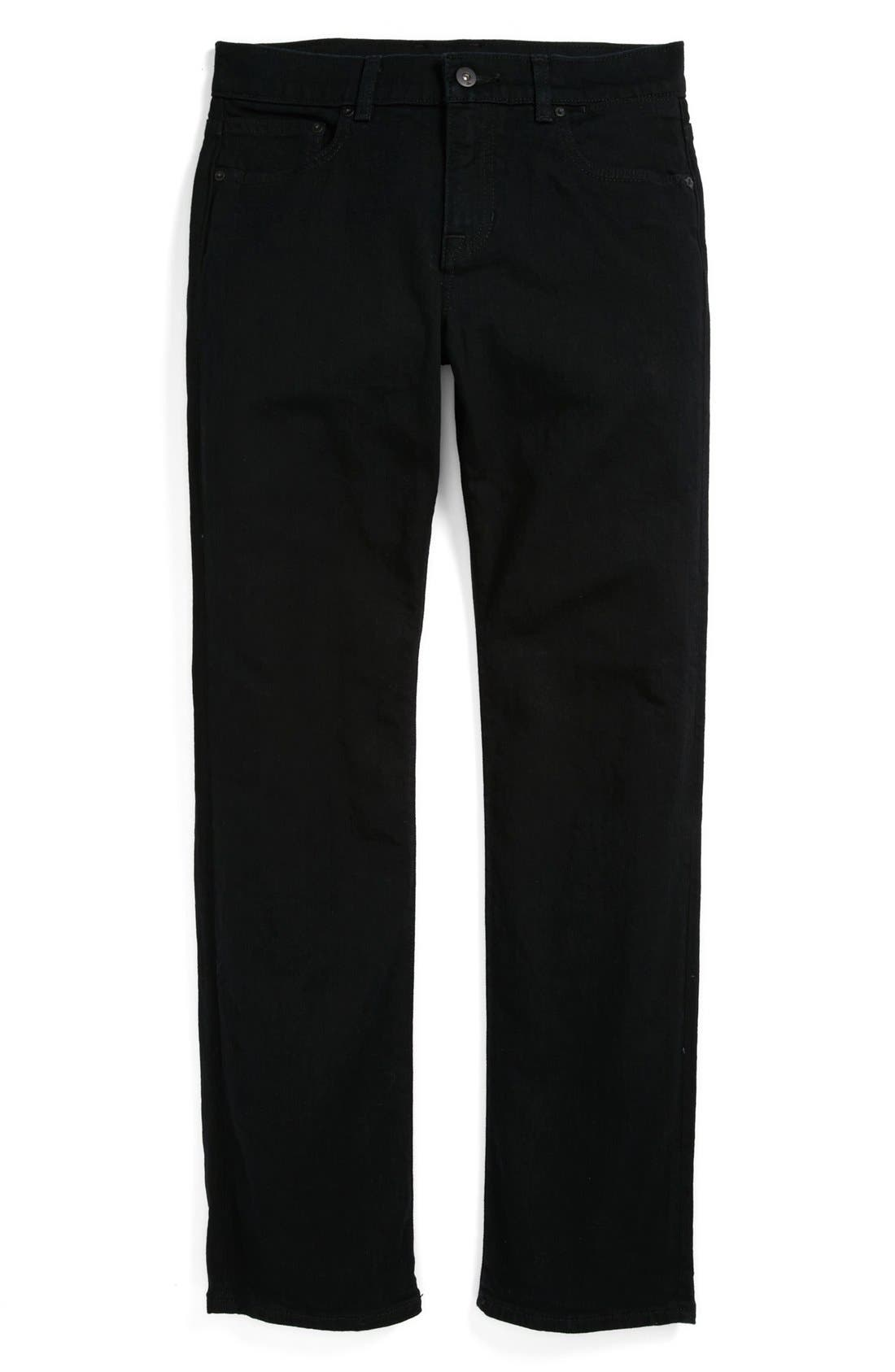 Alternate Image 2  - Quiksilver 'Distortion' Slim Straight Leg Jeans (Big Boys)