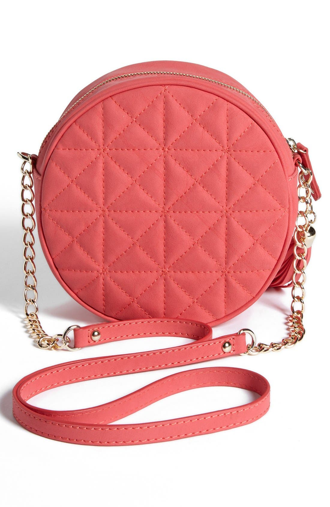 Alternate Image 4  - Cesca Quilted Round Crossbody Bag (Juniors)