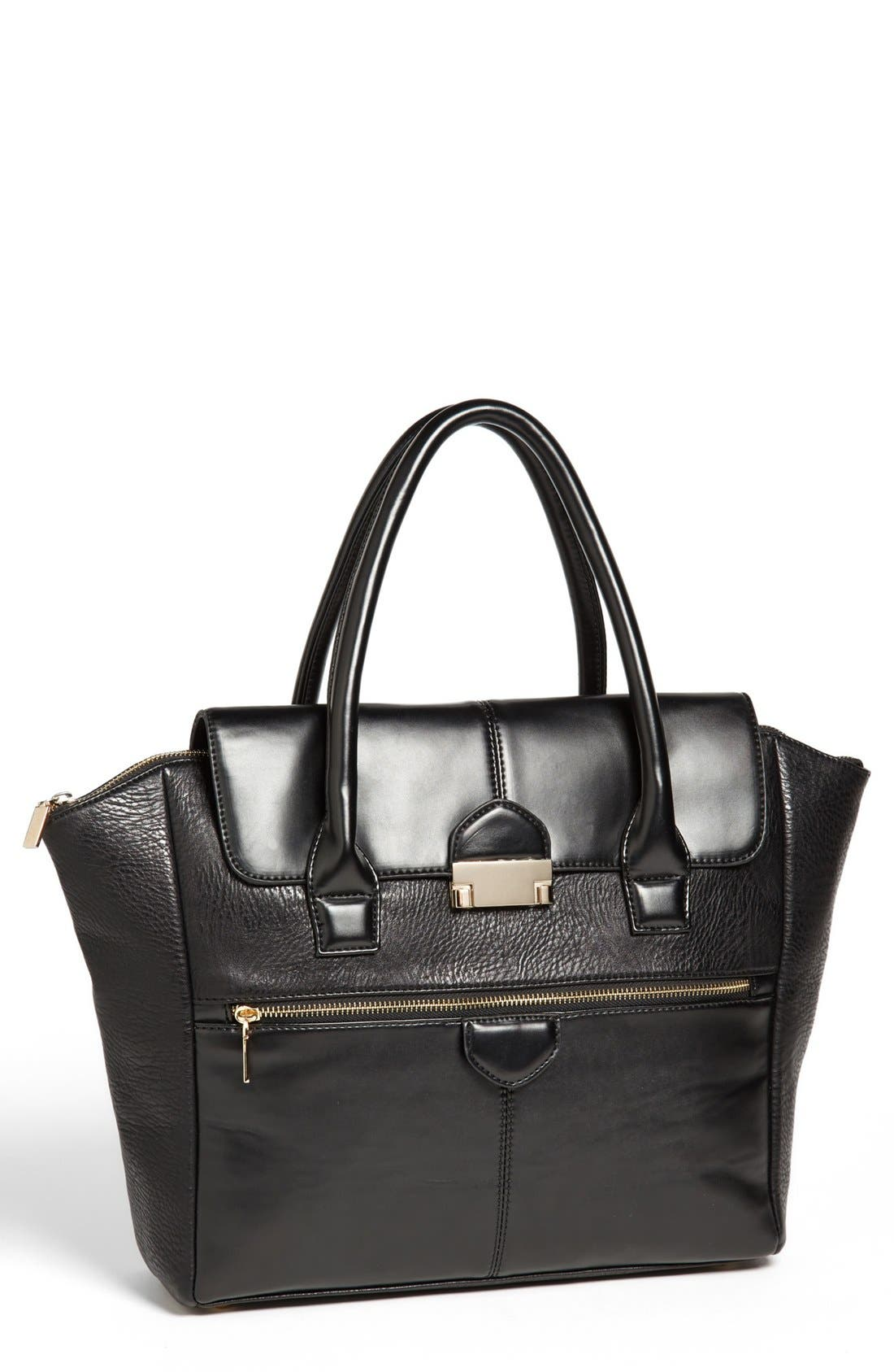 Main Image - Under One Sky Faux Leather Satchel