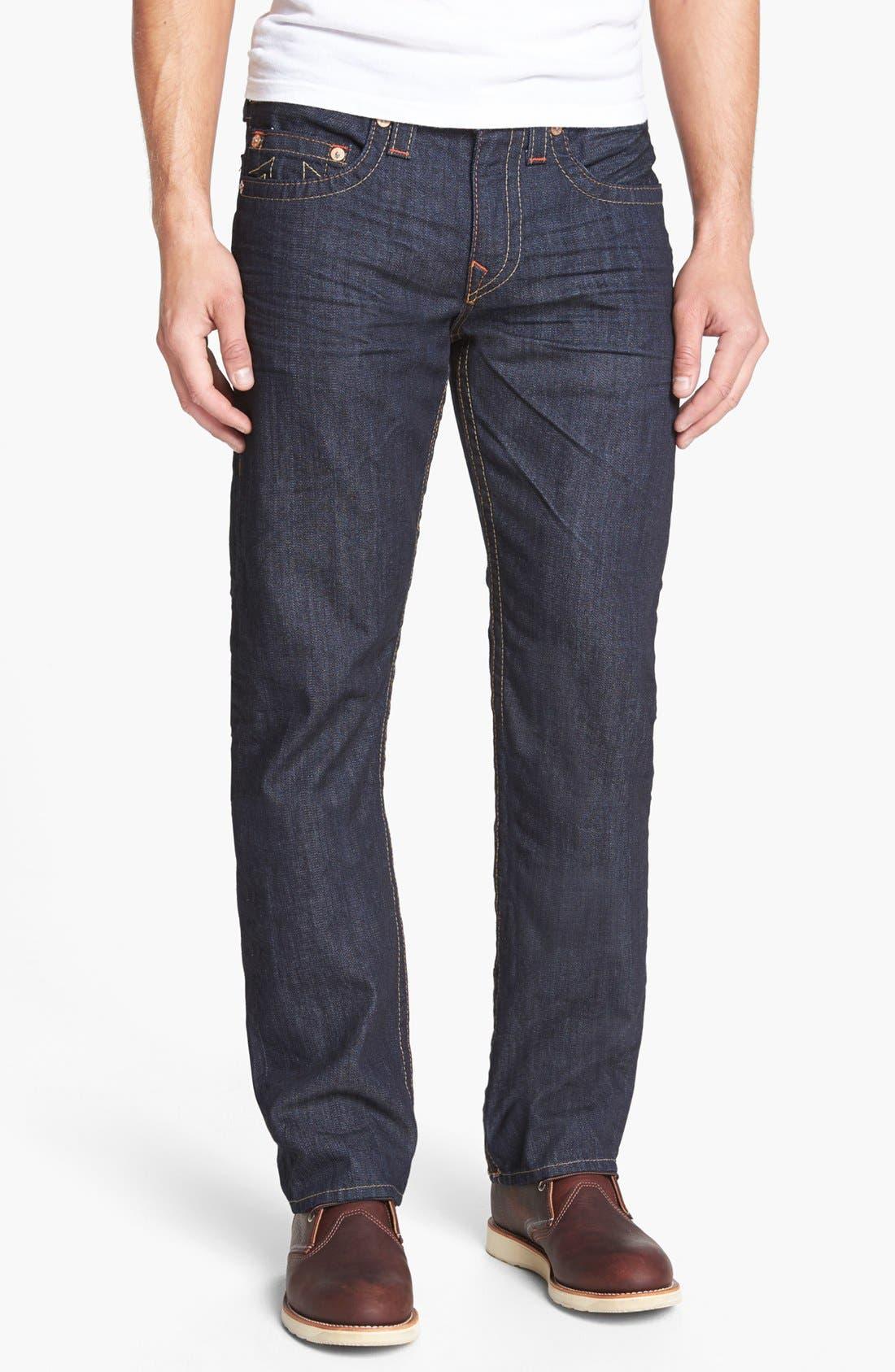 Alternate Image 2  - True Religion Brand Jeans 'Bobby' Straight Leg Jeans (Bz Inglorious)