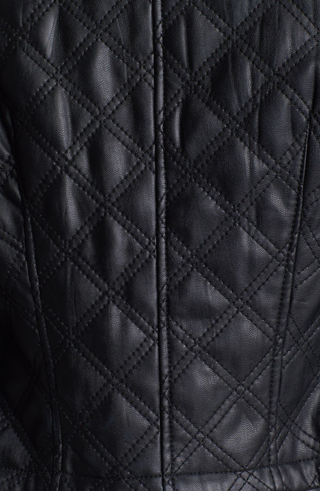 Alternate Image 4  - Chaus Collarless Quilted Faux Leather Jacket