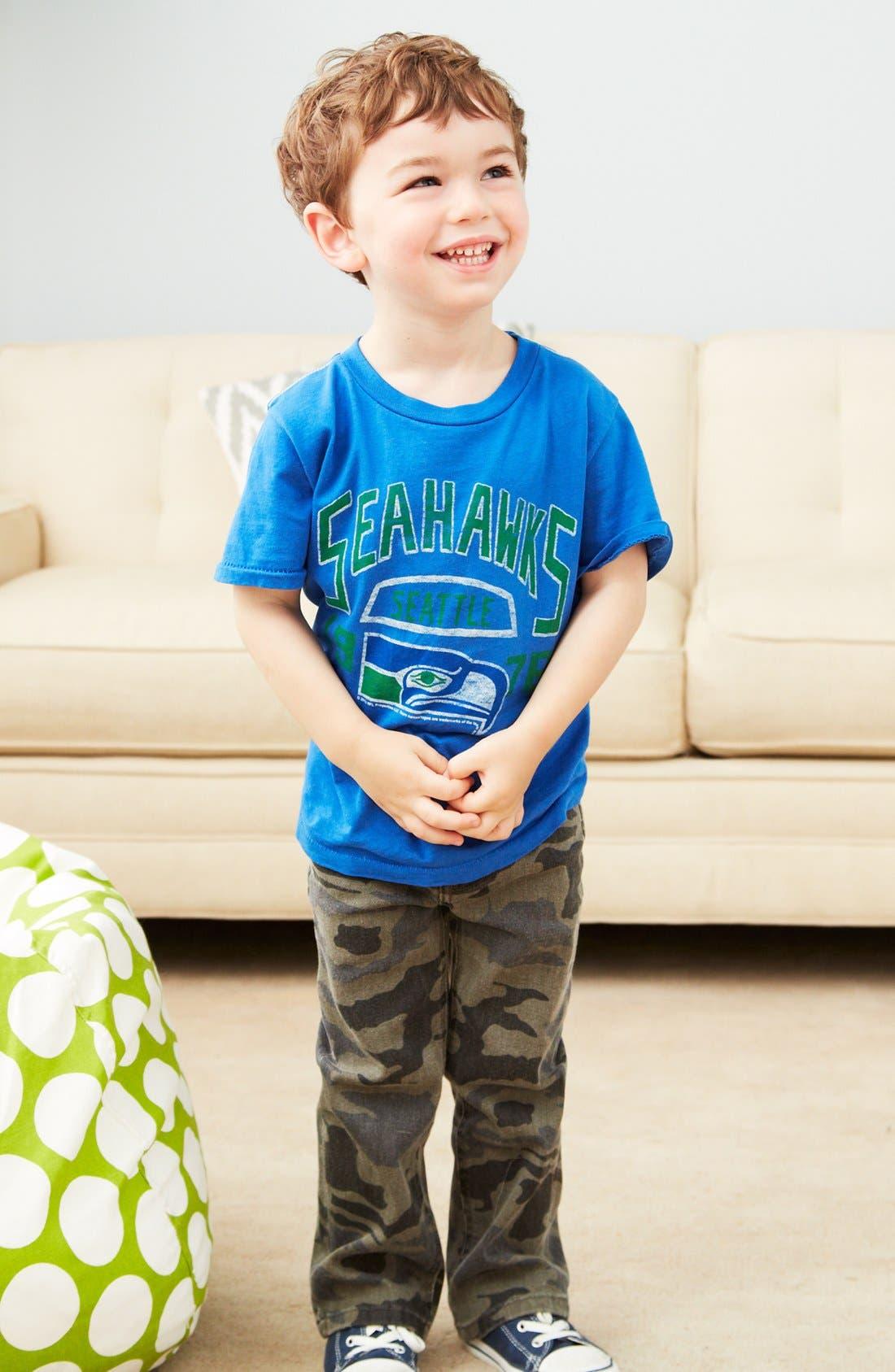 Alternate Image 1 Selected - Junk Food T-Shirt & Camo Pants (Toddler Boys)