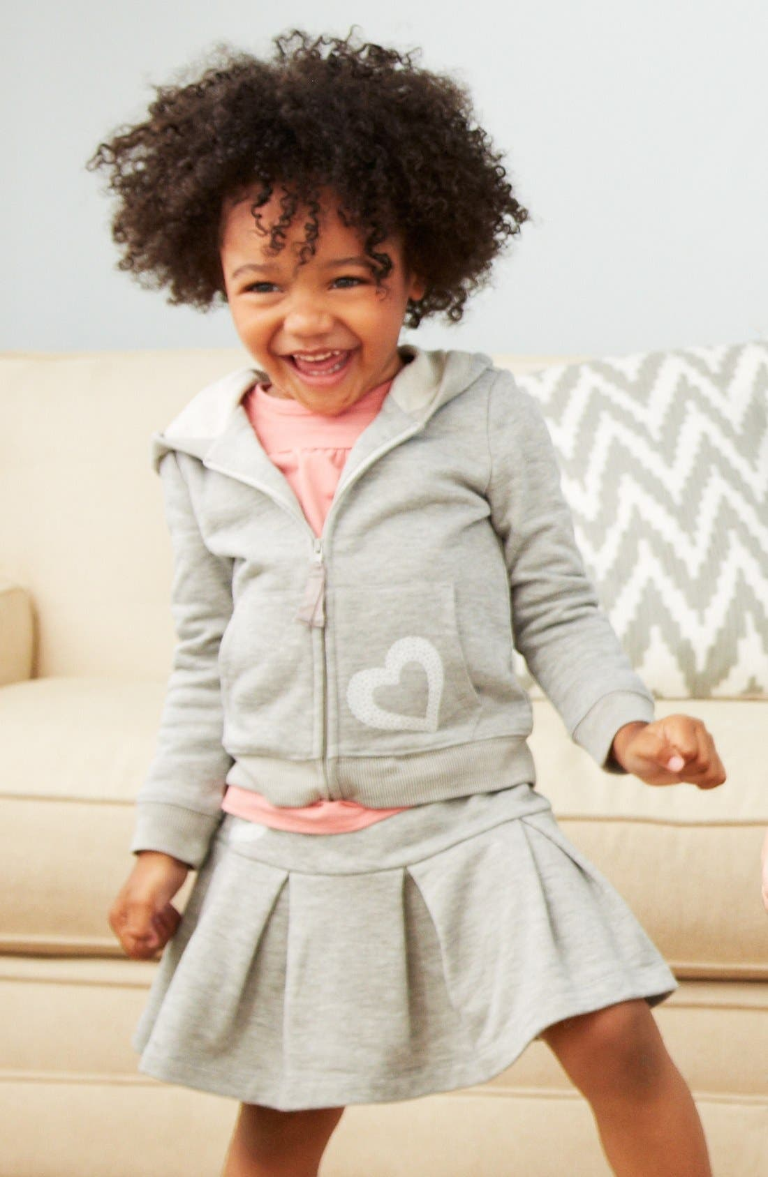 Main Image - Design History Hoodie & Skirt, Tucker + Tate Top (Toddler Girls)