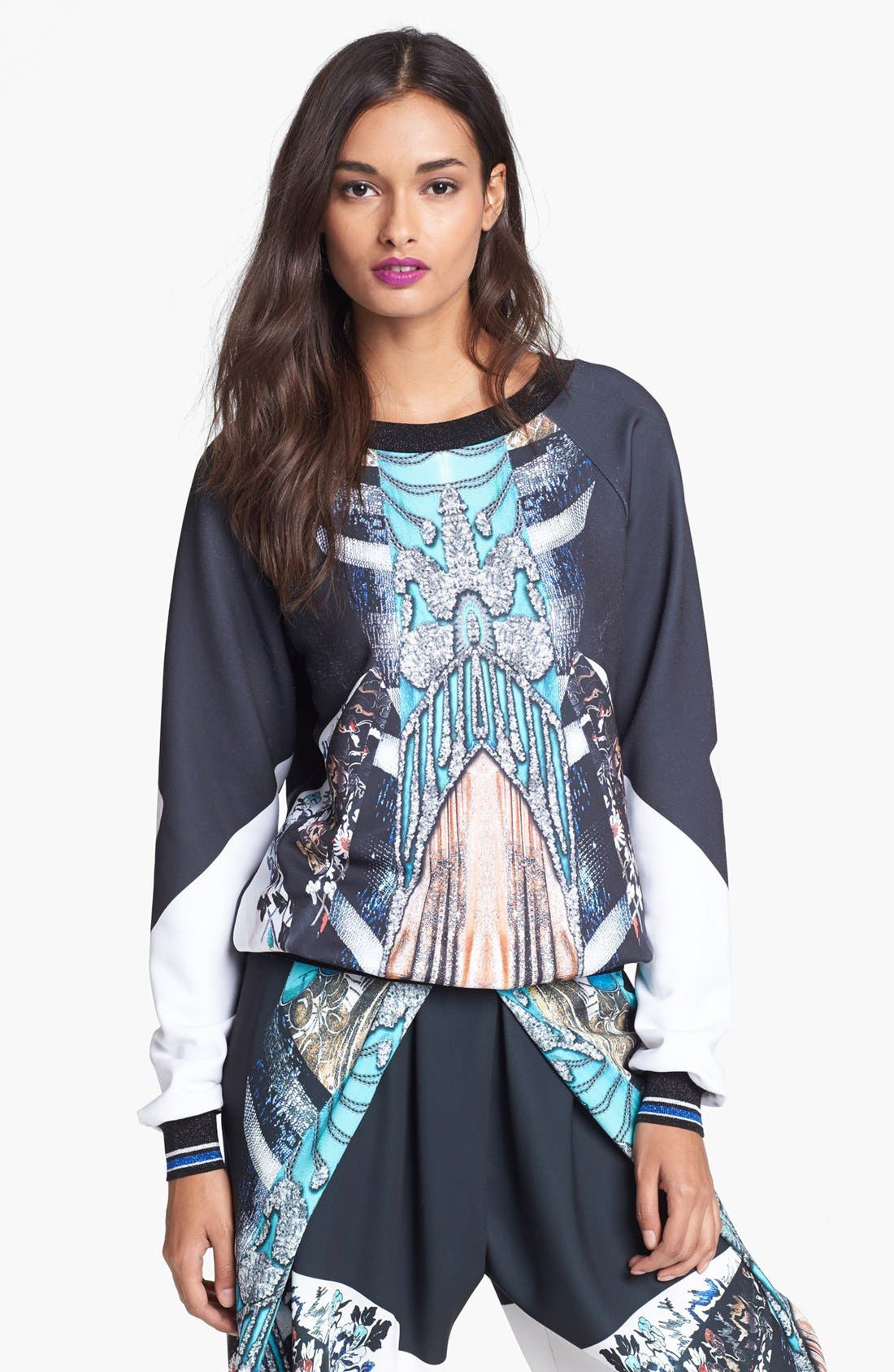 Alternate Image 1 Selected - Clover Canyon 'All That Jazz' Print Sweatshirt