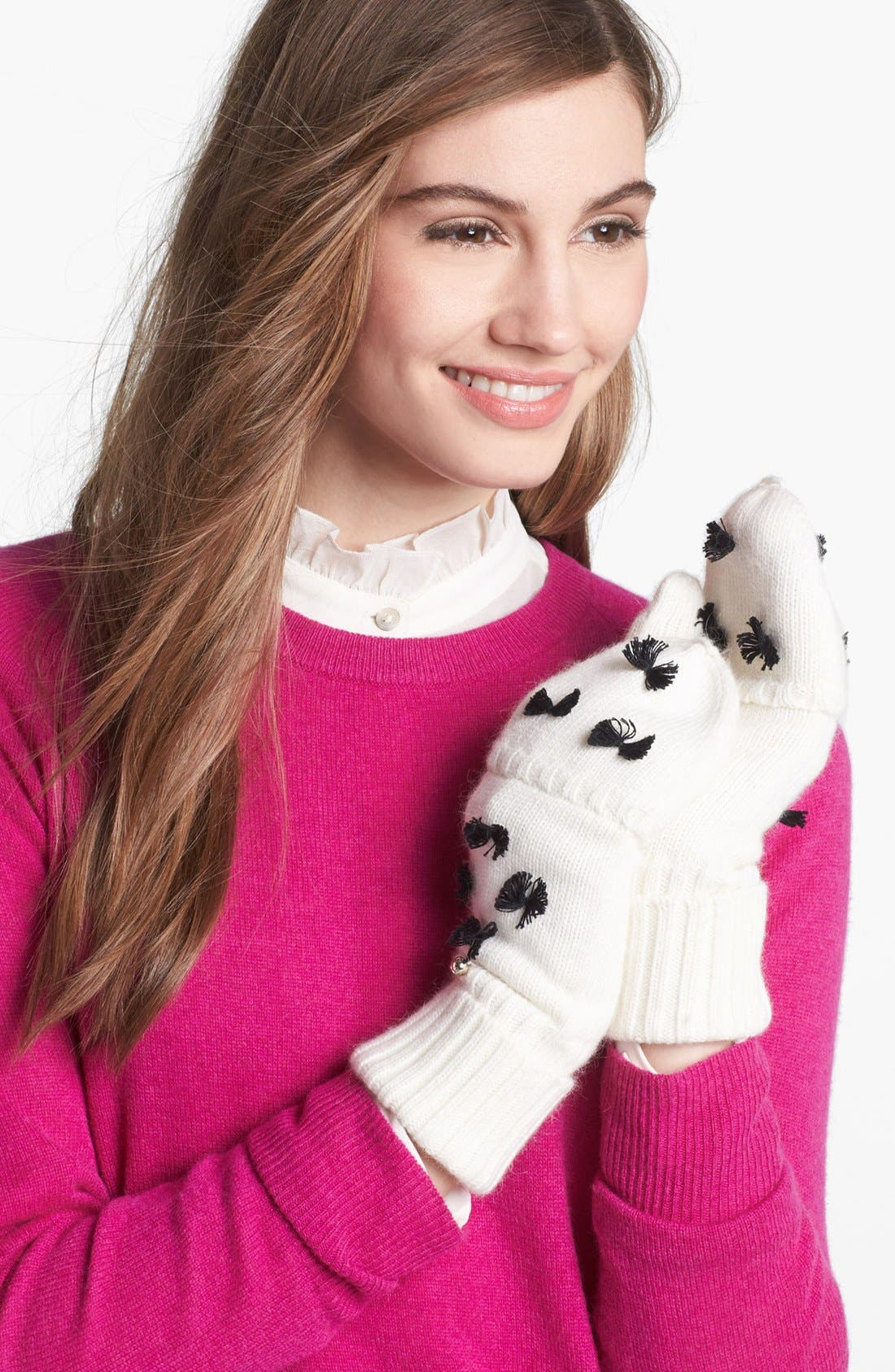 Alternate Image 2  - kate spade new york 'bow' flip top mittens