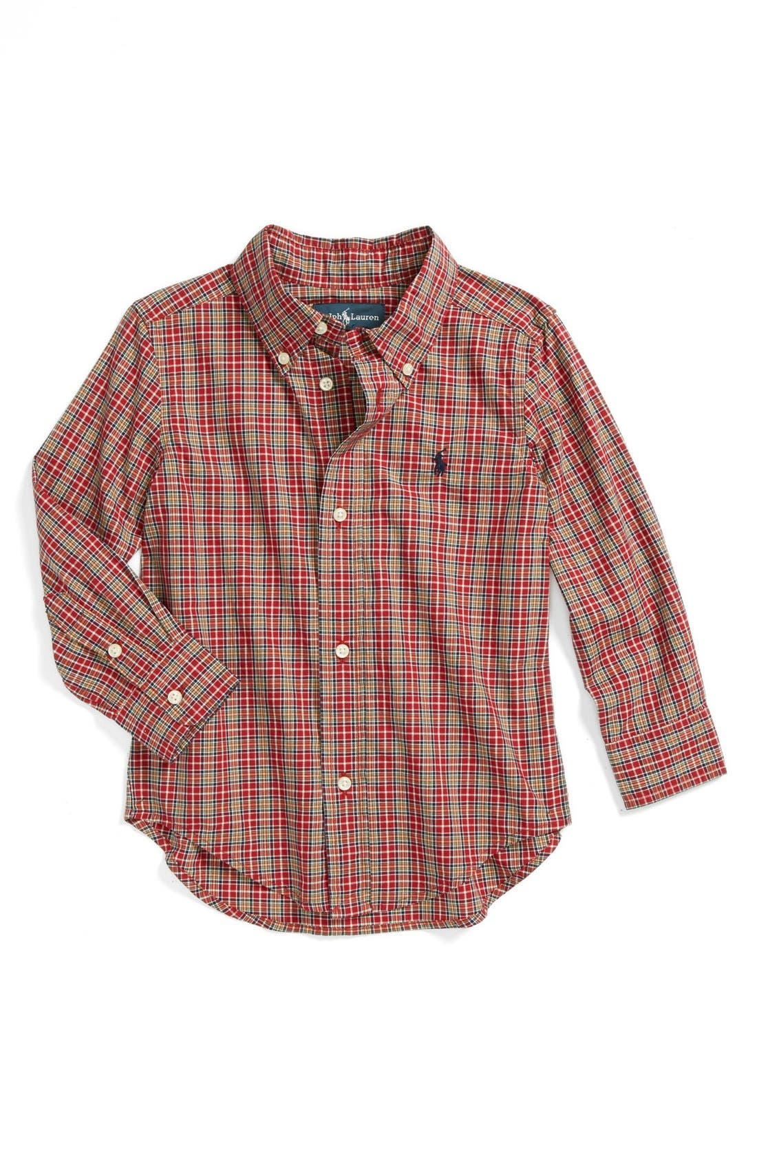 Alternate Image 1 Selected - Ralph Lauren 'Blake' Sport Shirt (Toddler Boys)