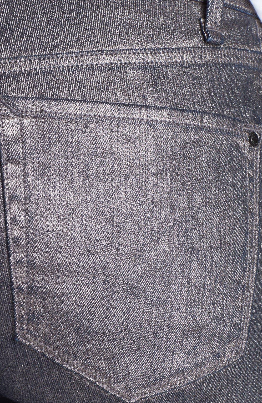 Alternate Image 3  - MARC BY MARC JACOBS Seamed Cigarette Leg Jeans (Gunmetal)