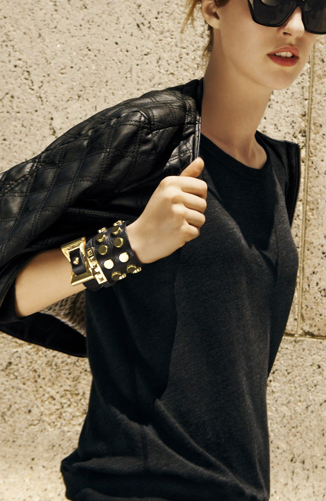 Alternate Image 4  - Cara Studded Leather Cuff
