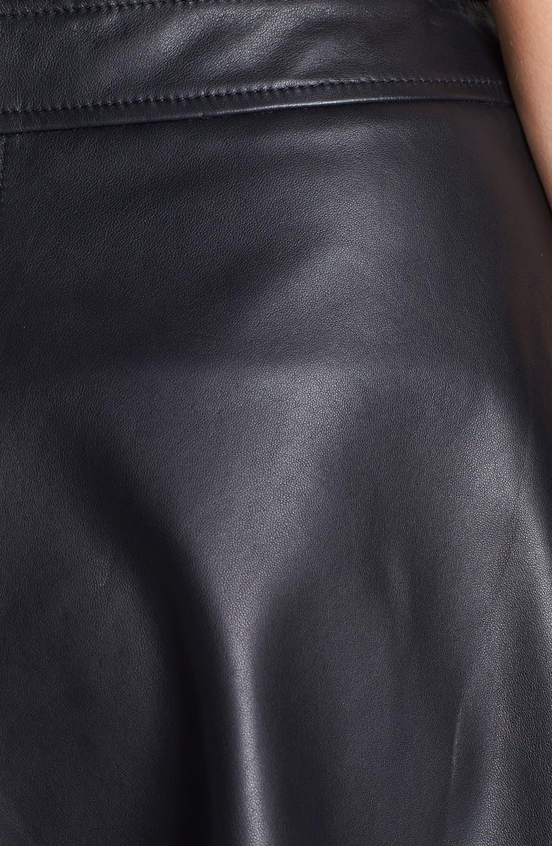 Alternate Image 3  - Trina Turk 'Lanni' Leather Flare Skirt
