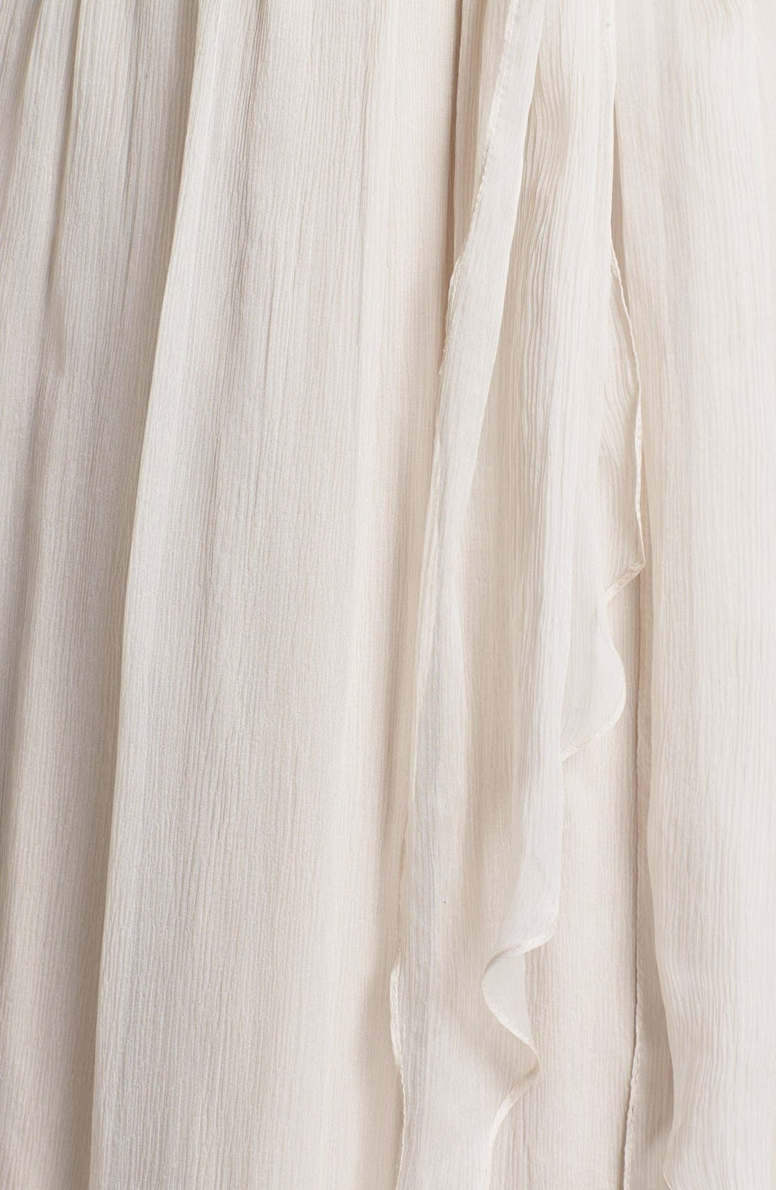 Alternate Image 3  - Amsale Ruched One-Shoulder Chiffon Gown