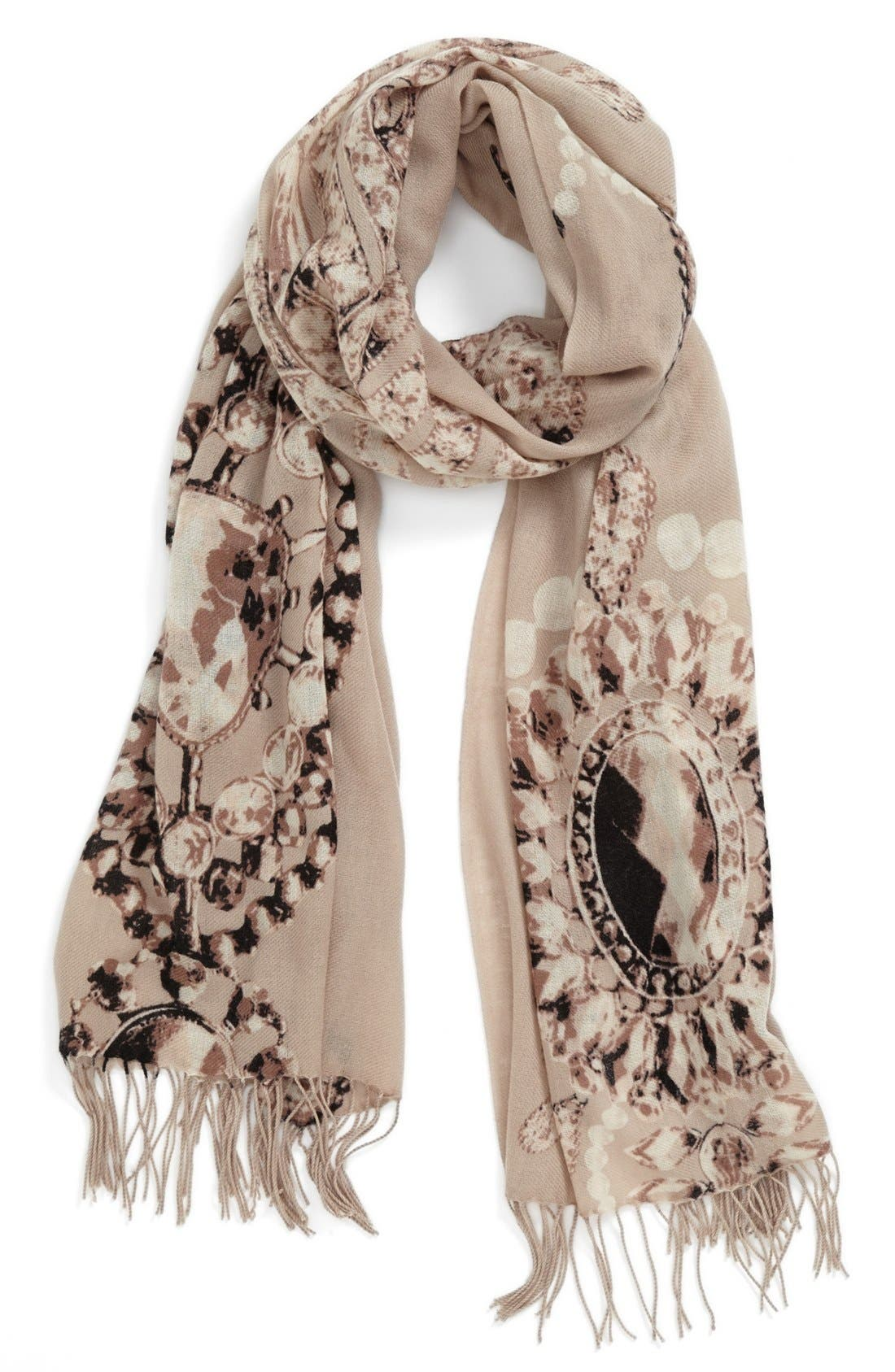 Alternate Image 1 Selected - Nordstrom 'Romantic Jewels' Wool & Cashmere Scarf