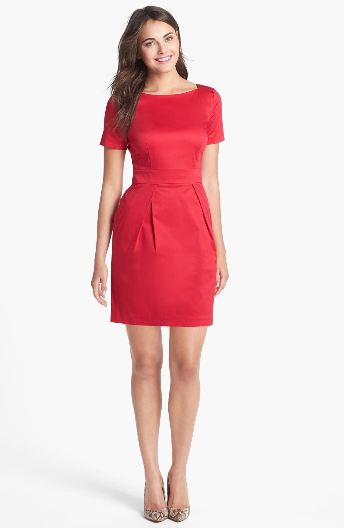 Alternate Image 1  - French Connection 'Richie' Stretch Cotton Sheath Dress