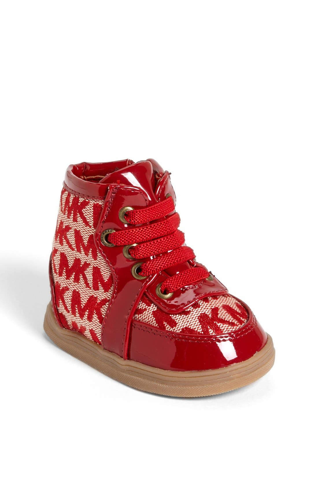 Alternate Image 1 Selected - MICHAEL Michael Kors 'Ivy' Crib Shoe (Baby)