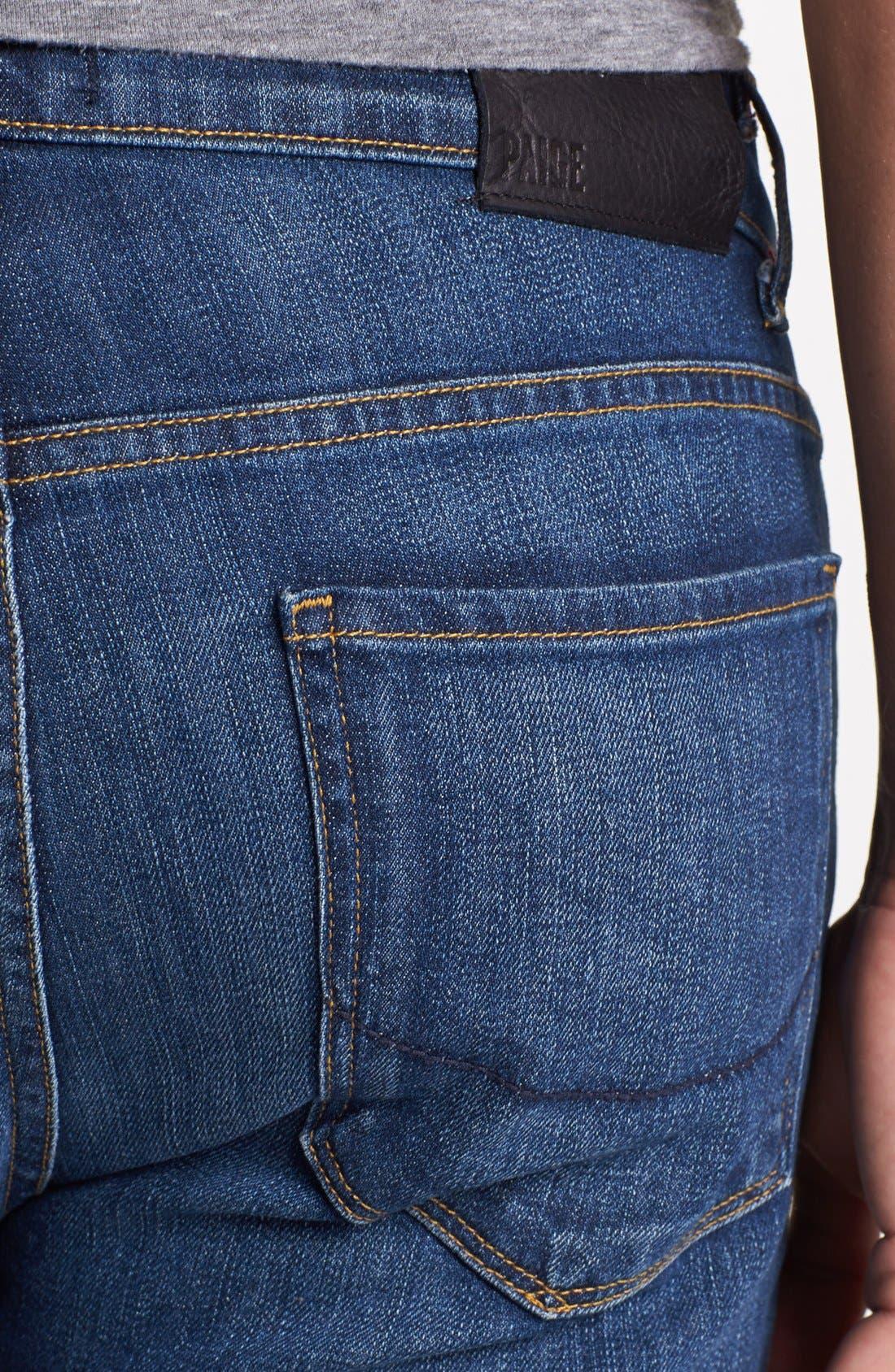 Alternate Image 4  - PAIGE 'Normandie' Slim Fit Jeans (Knuckle)