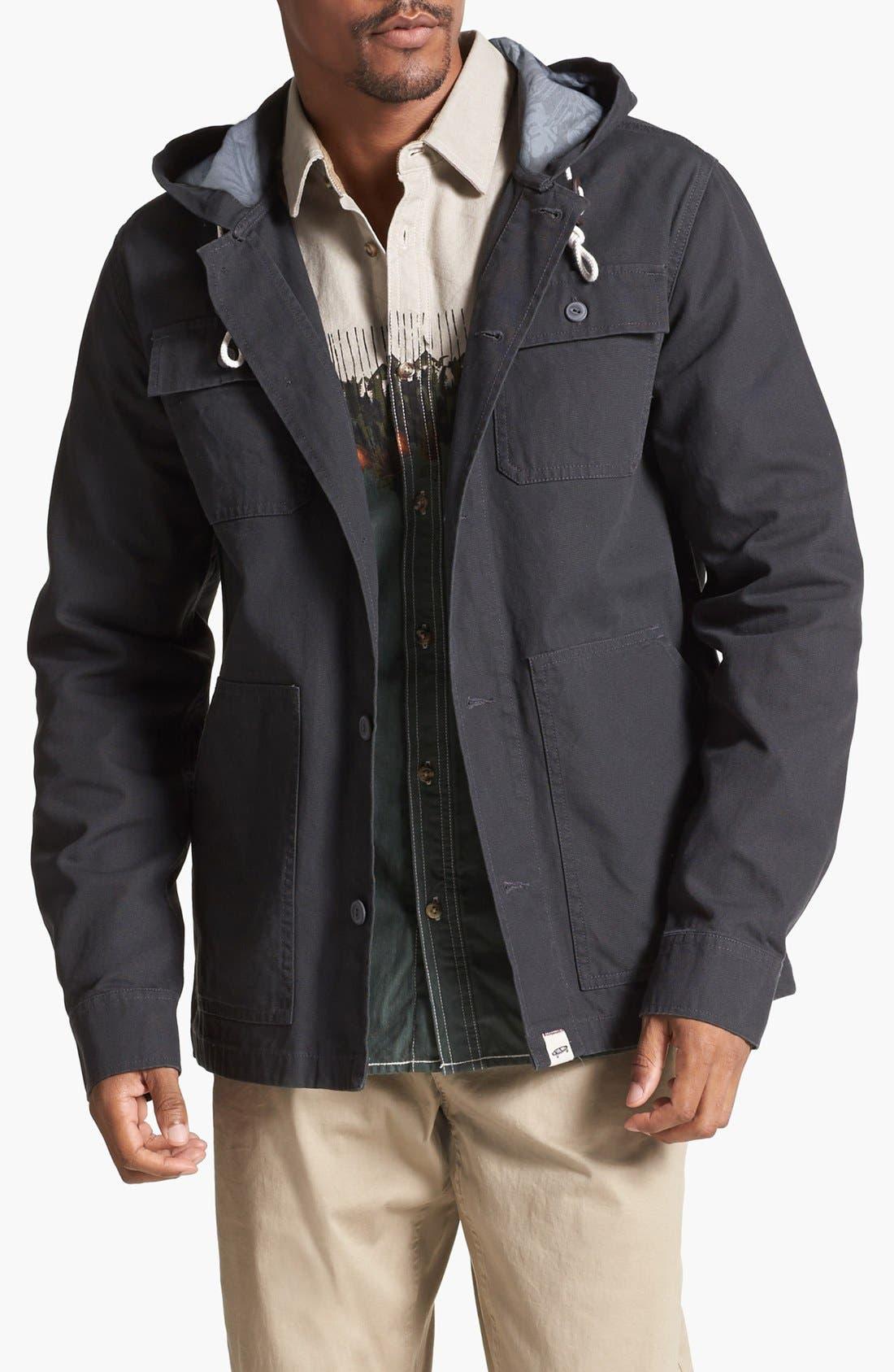 Alternate Image 1  - Vans 'Lismore' Canvas Cotton Hooded Jacket