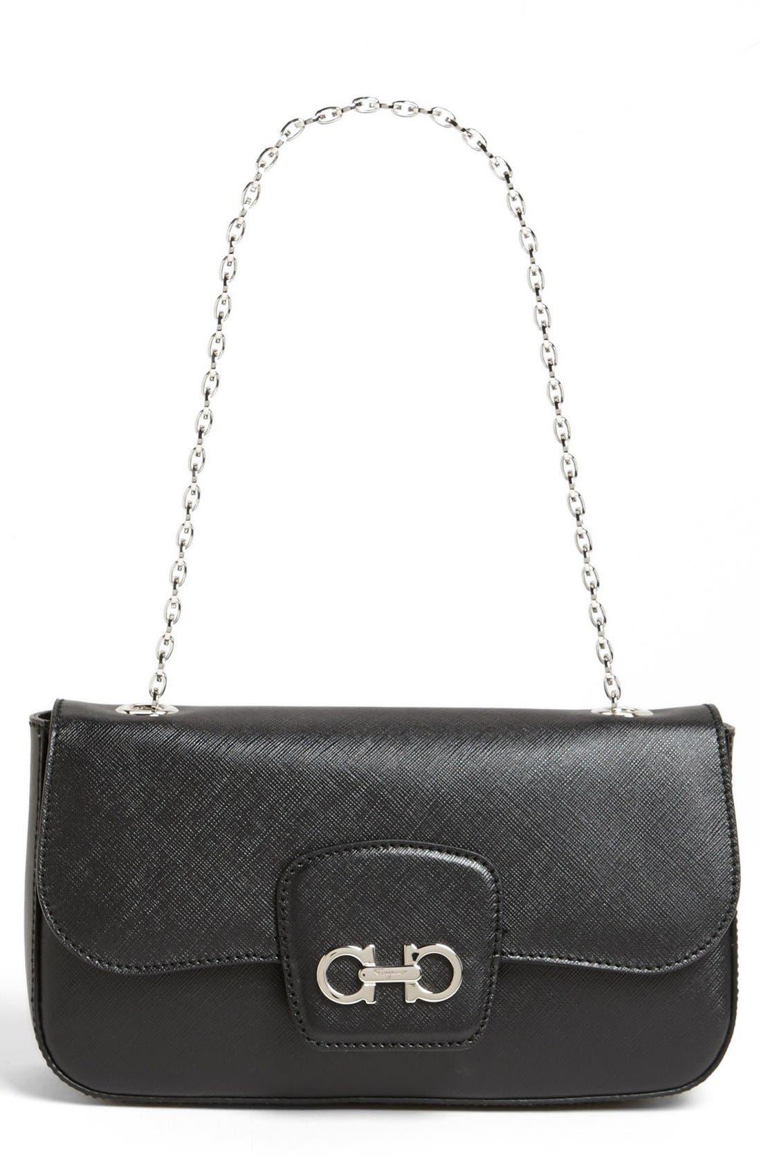 Main Image - Salvatore Ferragamo 'Rory' Leather Shoulder Bag