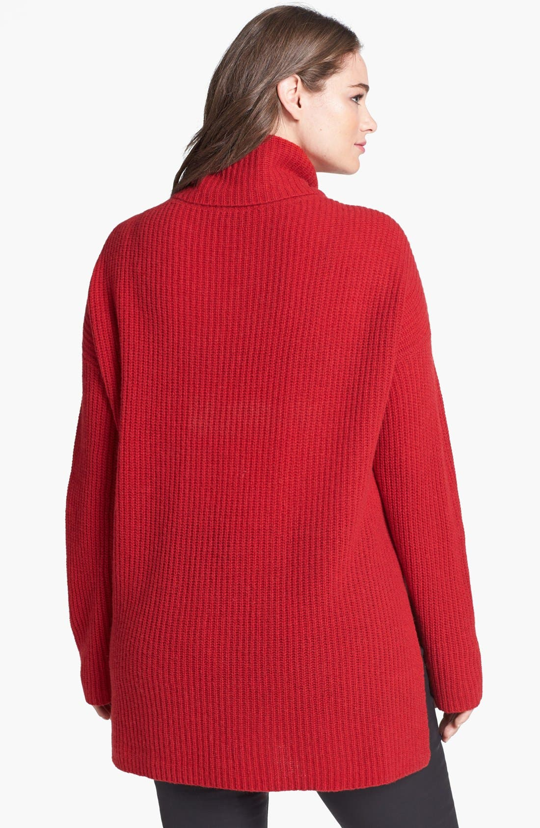 Alternate Image 2  - Eileen Fisher Yak & Merino Turtleneck Poncho Sweater (Plus Size)