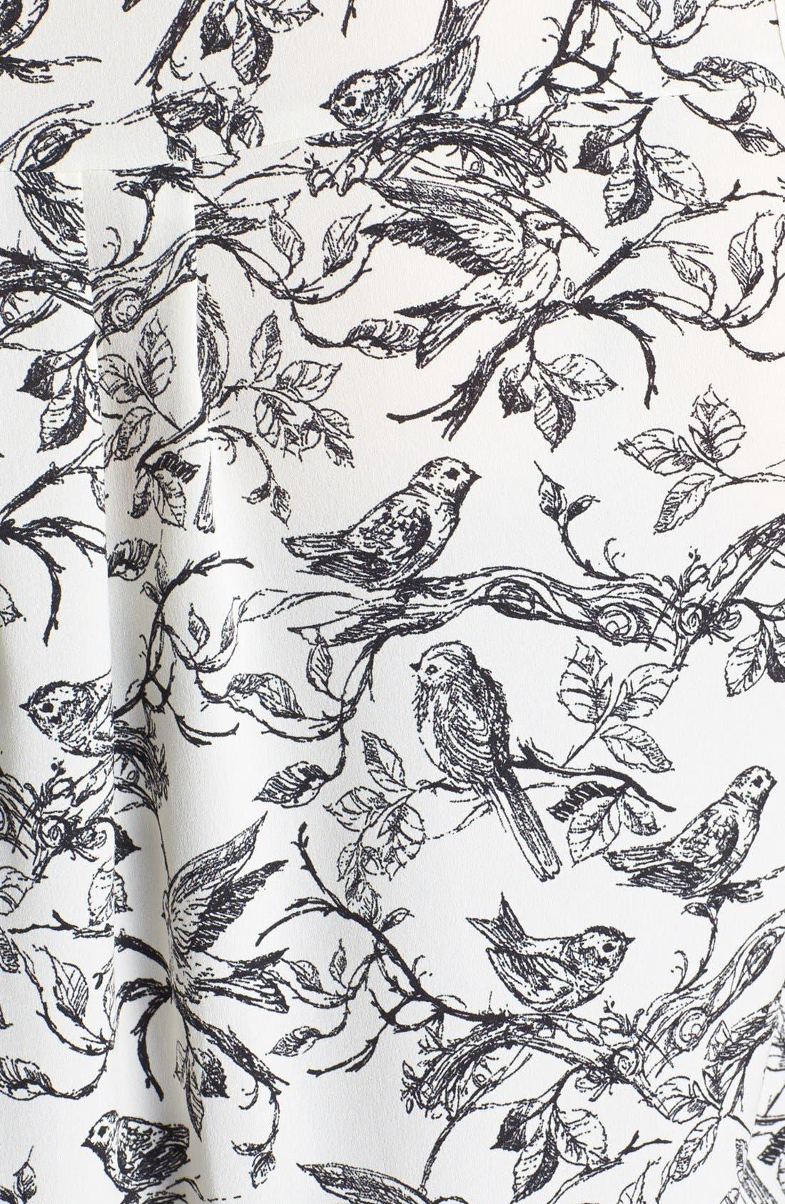 Alternate Image 3  - Evans Bird Print Sleeveless Blouse (Plus Size)