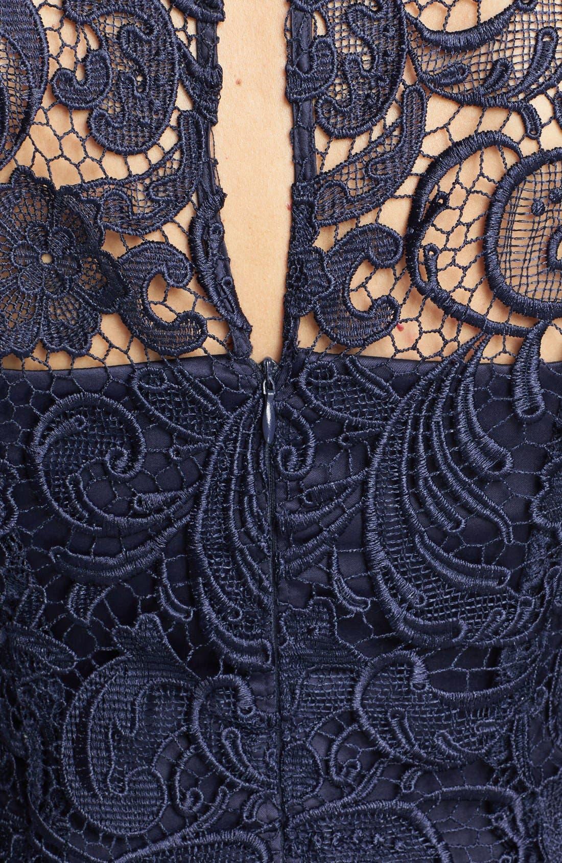Alternate Image 3  - Adrianna Papell Guipure Lace Sheath Dress