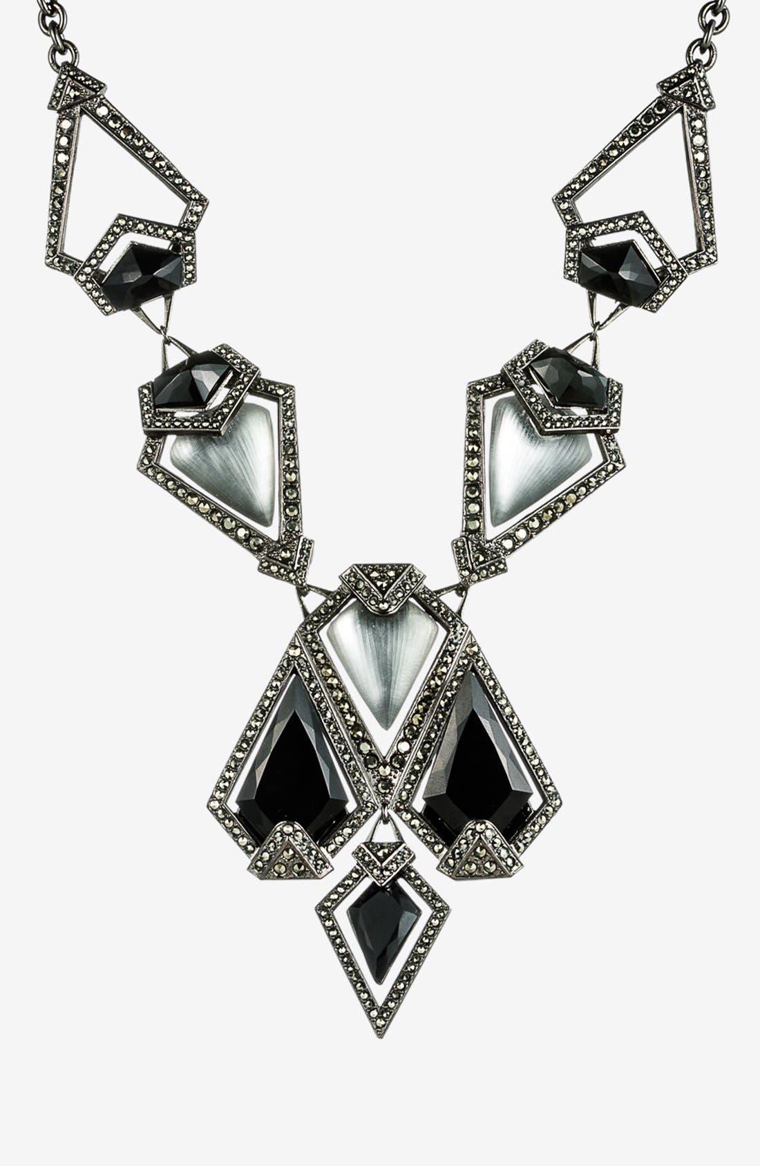 Main Image - Alexis Bittar 'Lucite® - Santa Fe Deco' Pavé Bib Statement Necklace