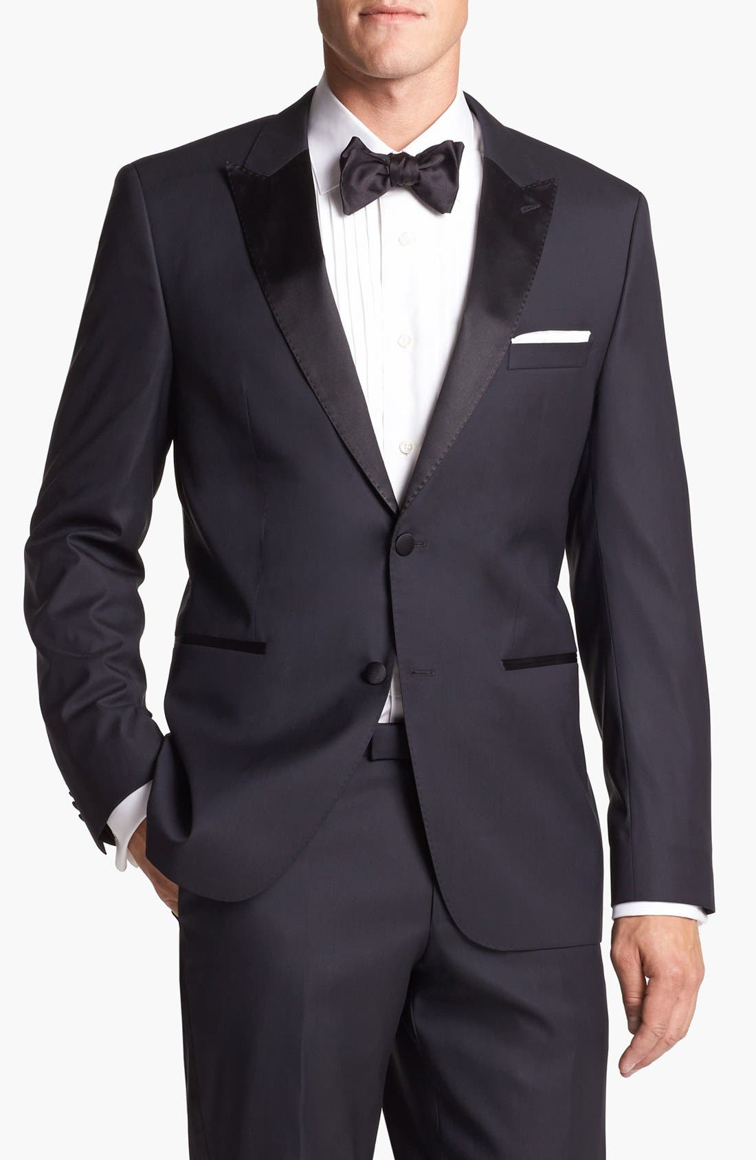 Alternate Image 4  - BOSS HUGO BOSS 'Actor/Step' Trim Fit Tuxedo
