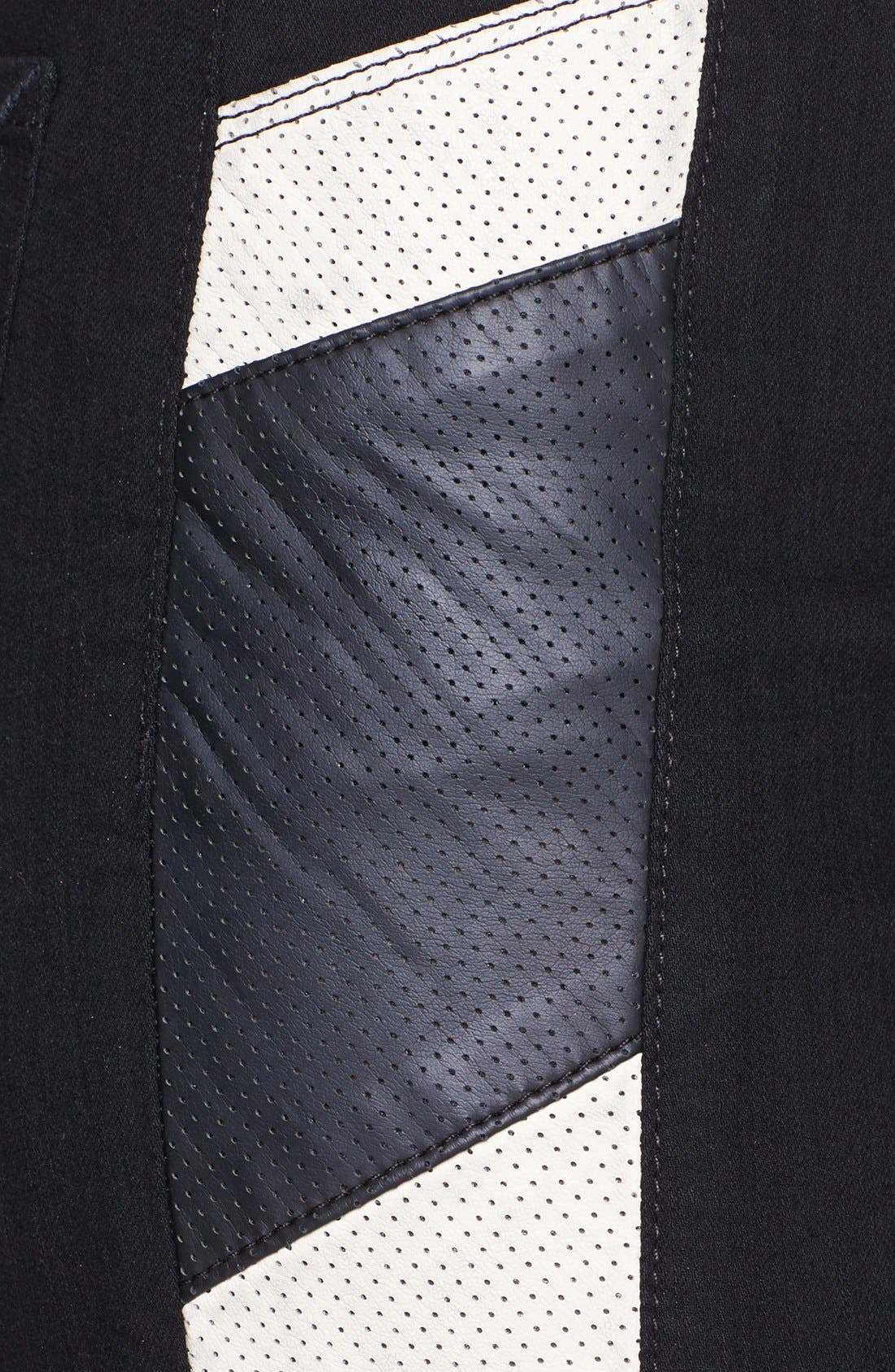 Alternate Image 3  - NYDJ 'Aiden' Perforated Side Panel Stretch Skinny Jeans